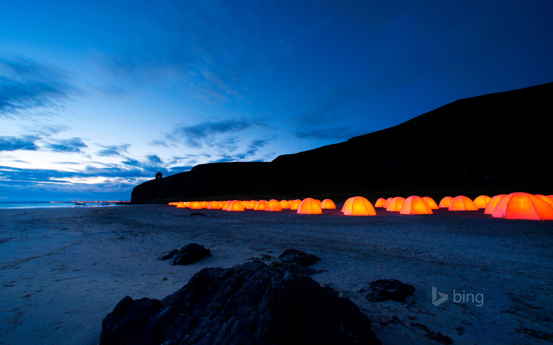 Peace Camp at Downhill Beach in Northern Ireland