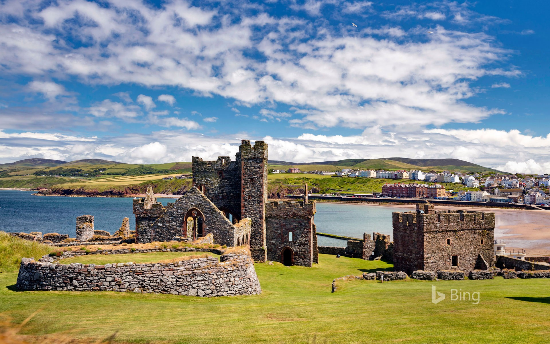 Peel Castle on St Patrick's Isle, Isle of Man