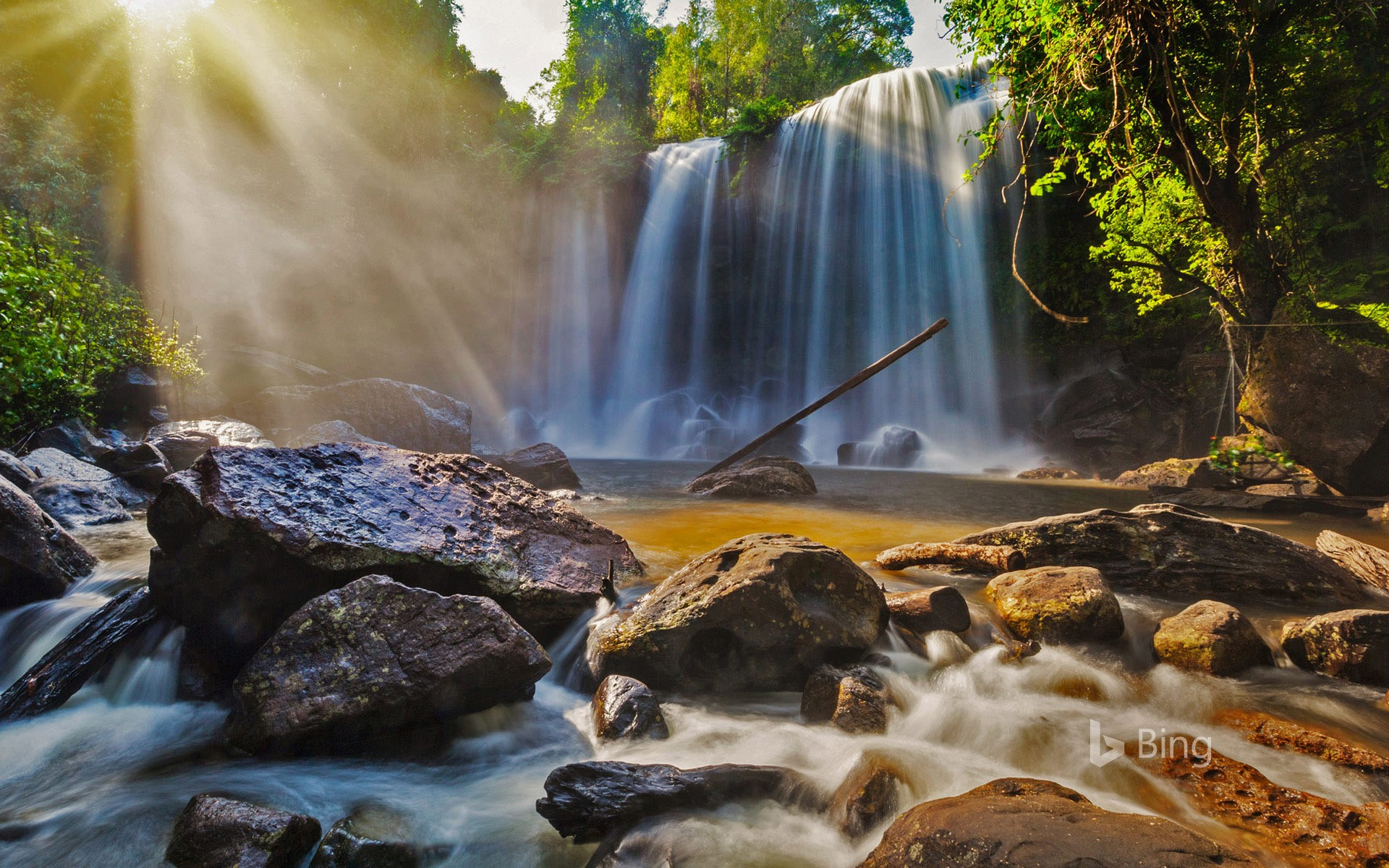 Waterfalls in Phnom Kulen National Park, Cambodia
