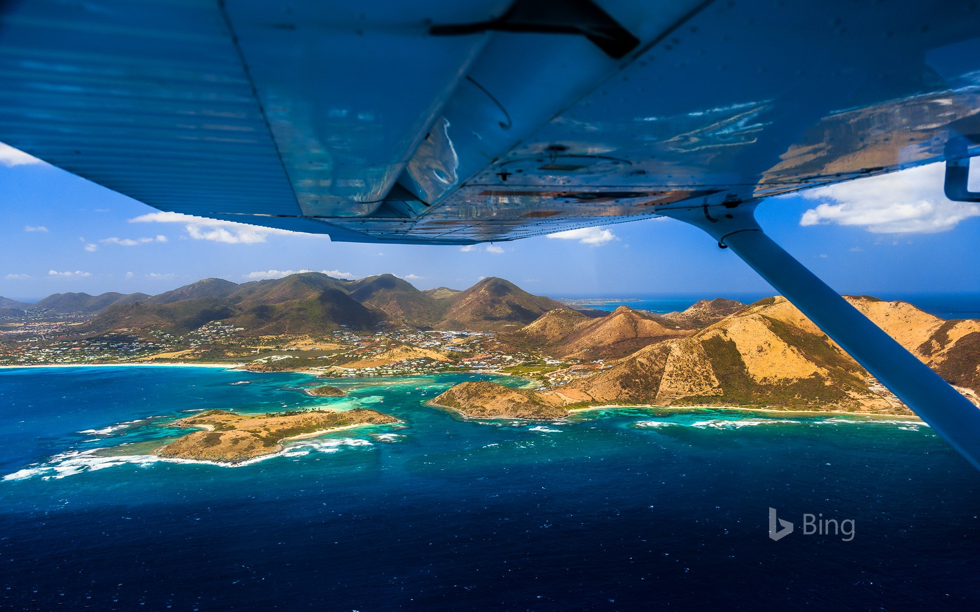 Nature reserve of Pinel Island, Saint Martin, French overseas territory