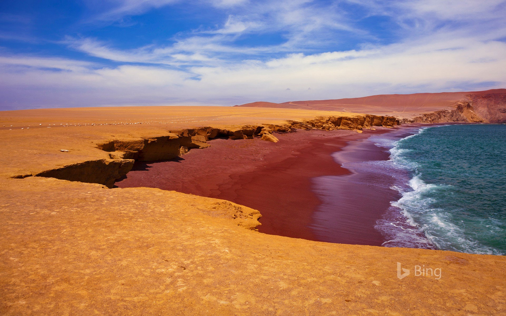 Playa Roja in Paracas National Reserve, Peru
