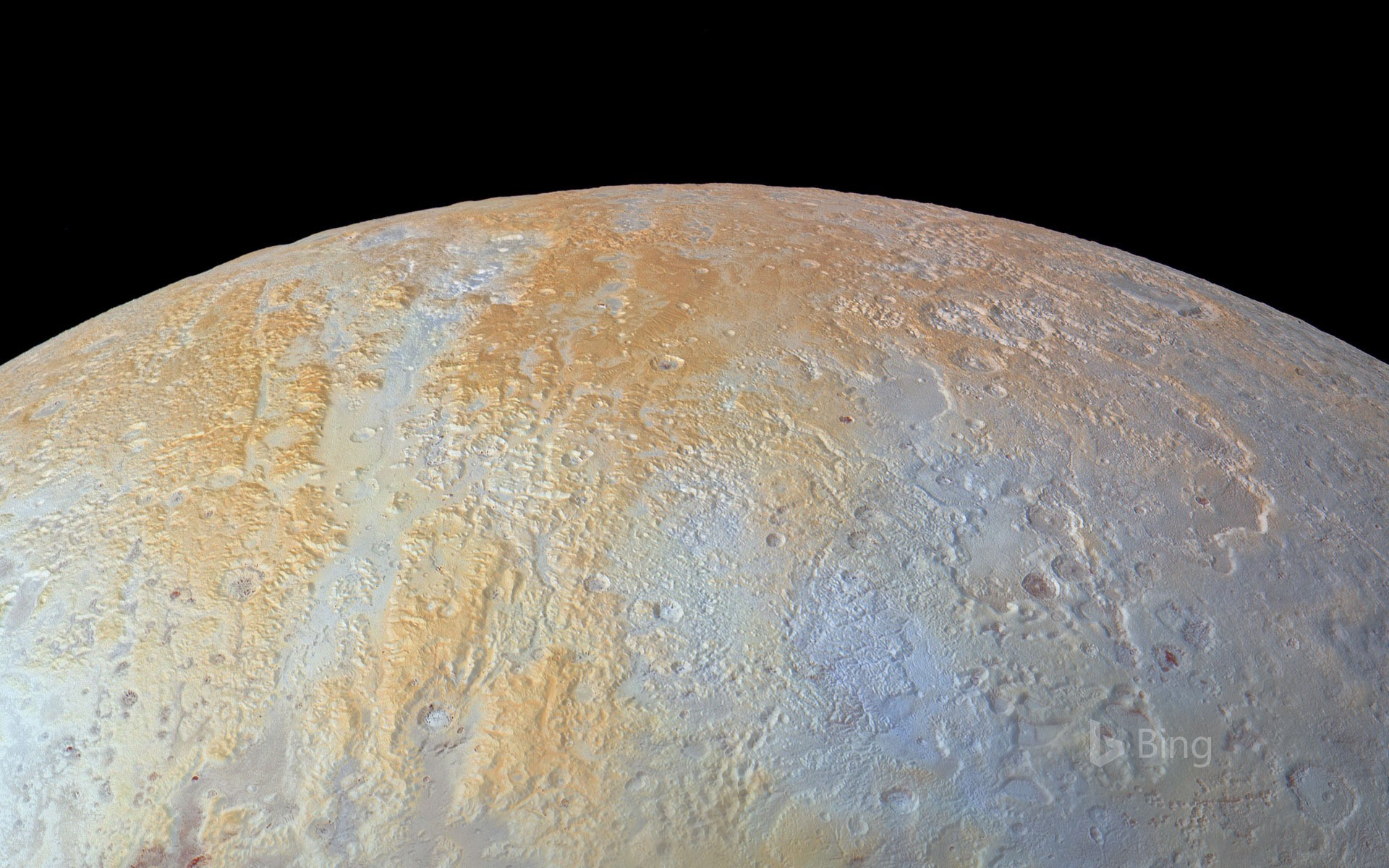 Pluto's north pole