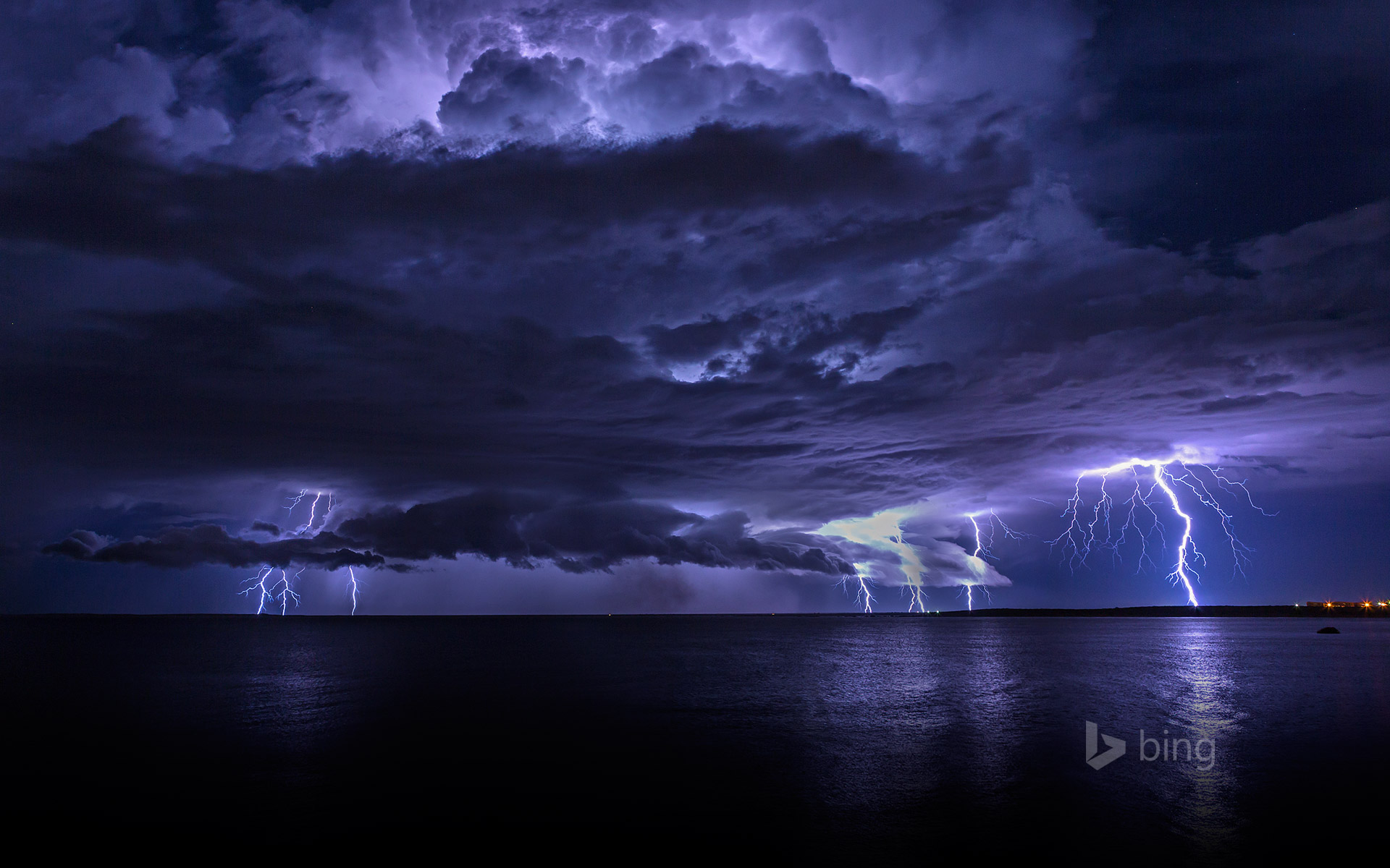 Lightning storm off Cooke Point, Port Hedland, Australia