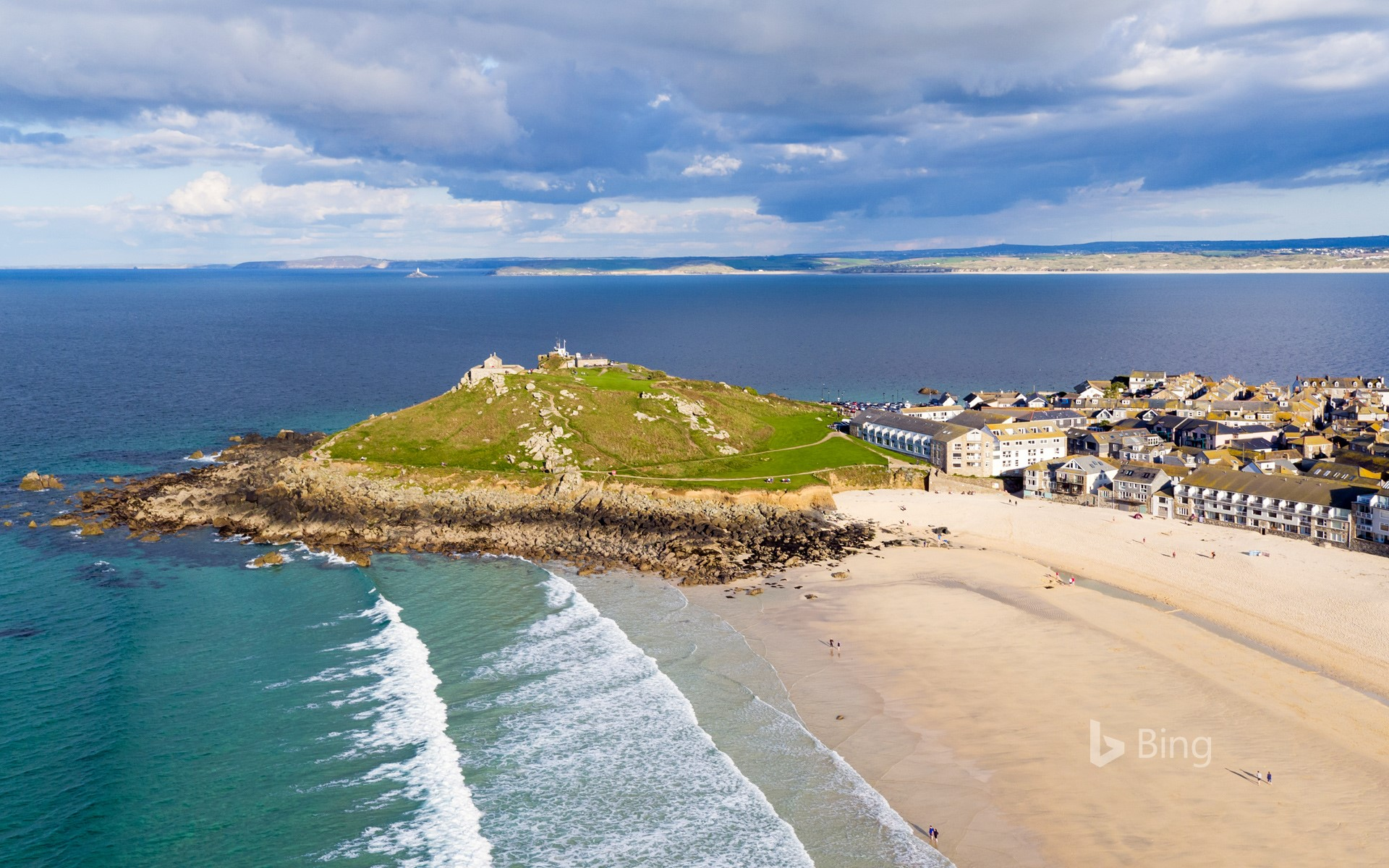 Porthmeor beach in St Ives, Cornwall, England