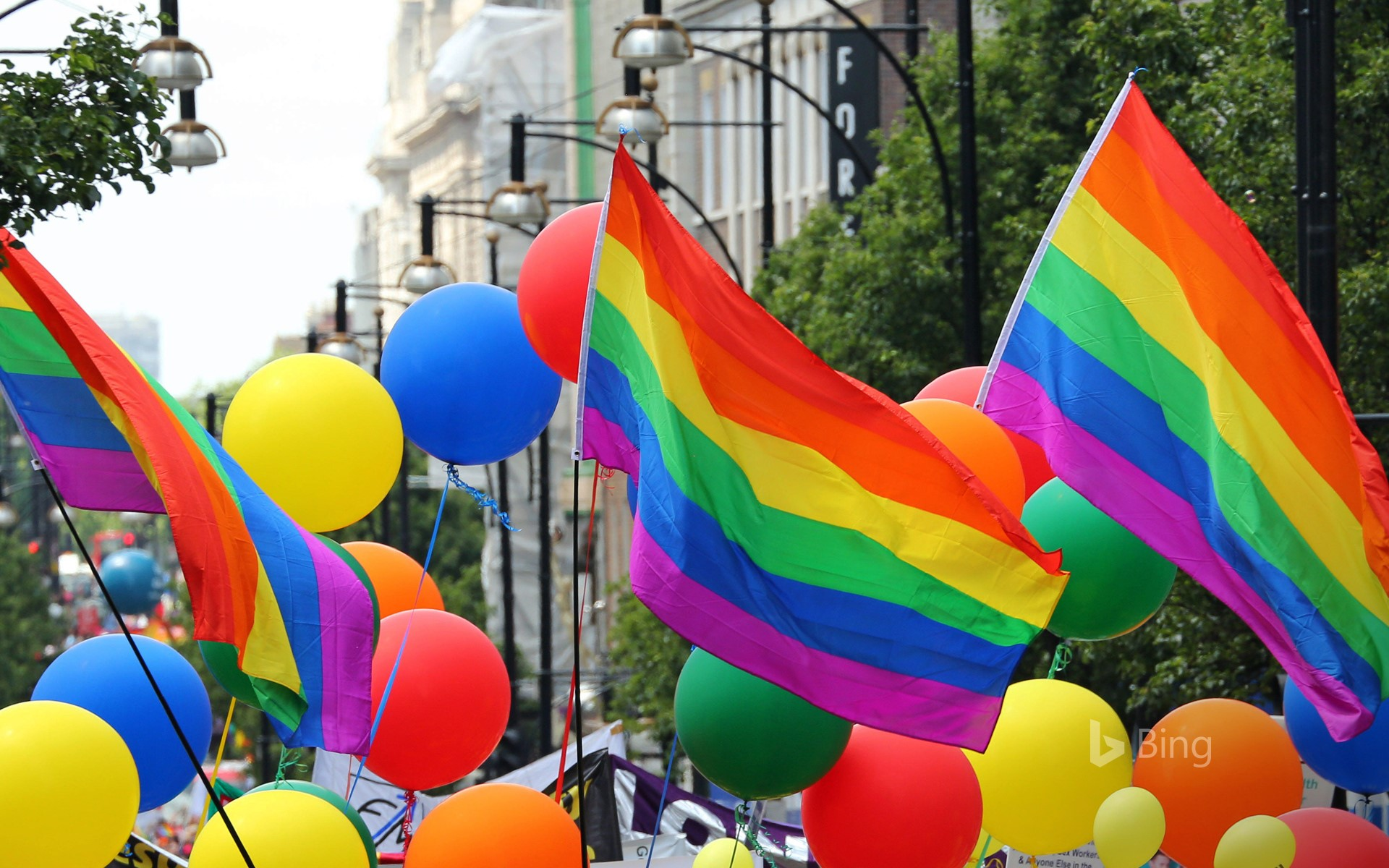 The Pride parade in London