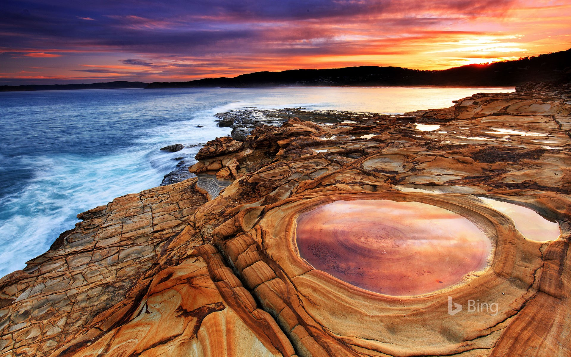 Putty Beach in New South Wales, Australia