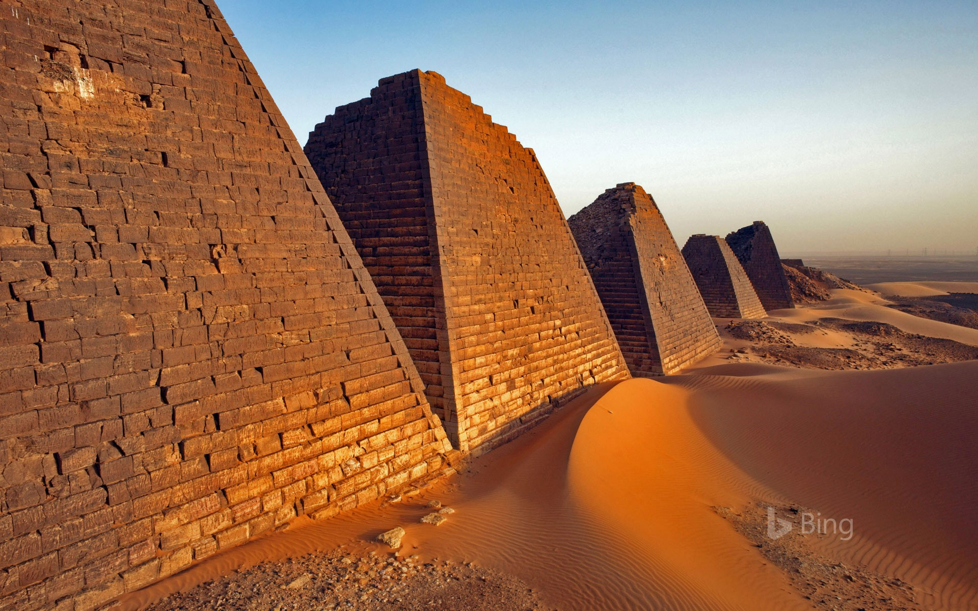 The Pyramids of Meroë in Sudan
