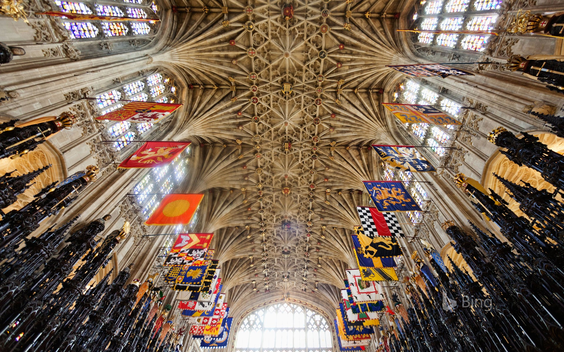 The Quire ceiling at St George's Chapel, Windsor Castle