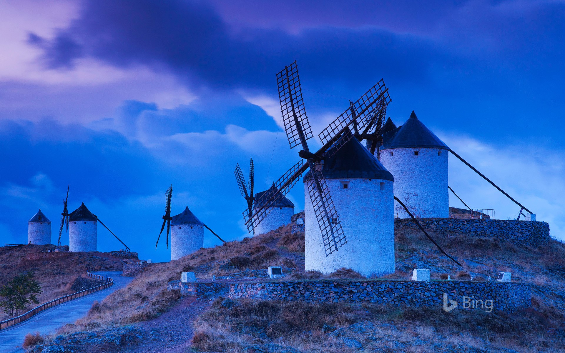 Windmills in the province of Toledo, Spain