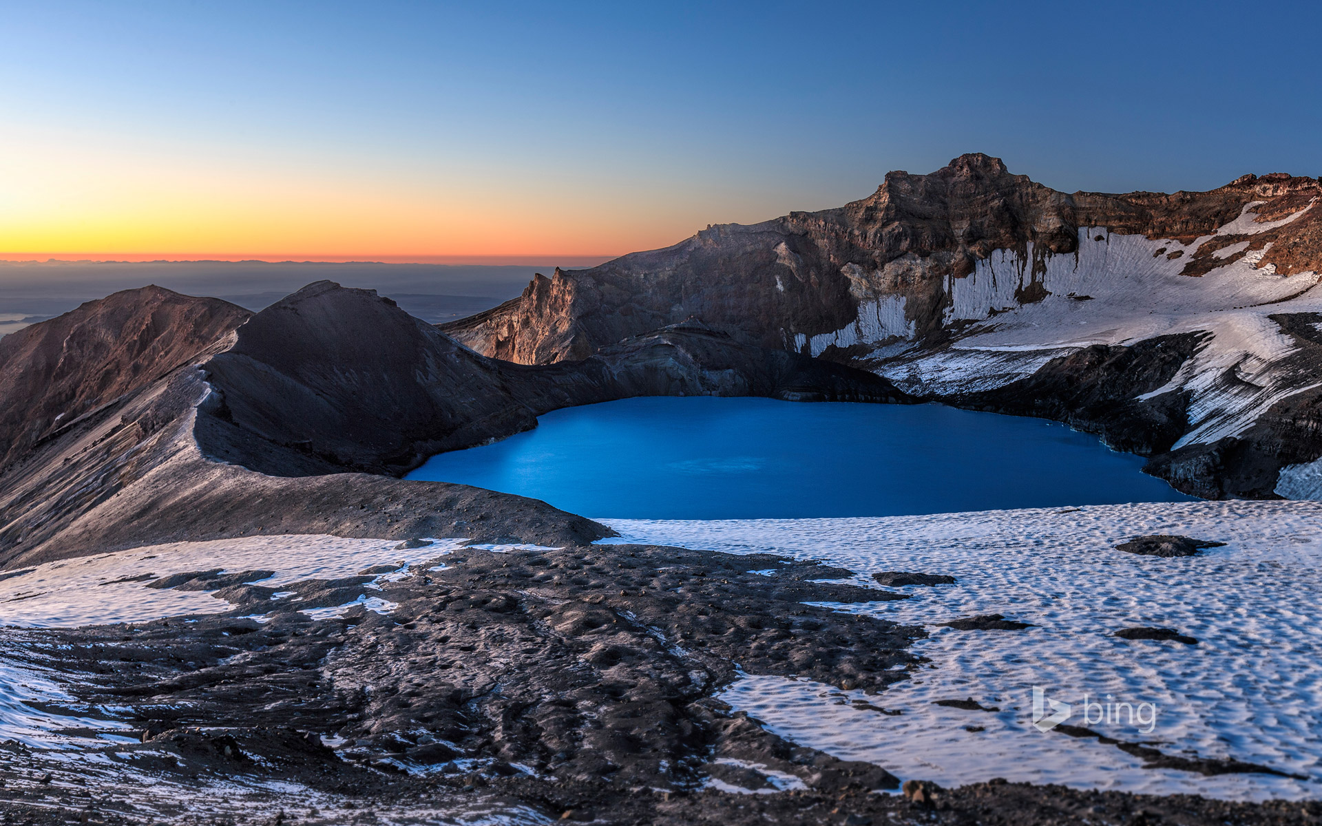 Mount Ruapehu's crater lake, New Zealand