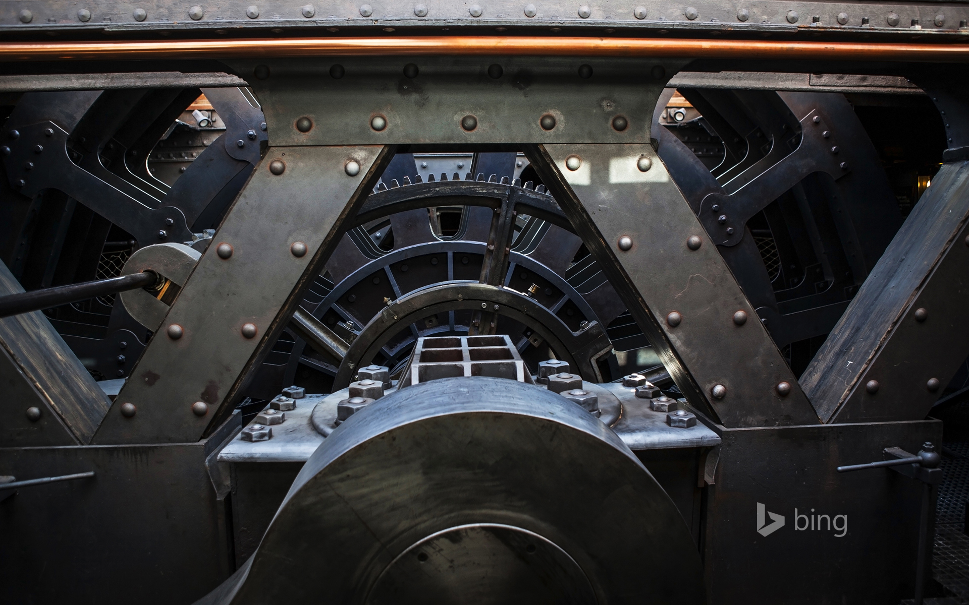Engine Room of Brunel's historic SS Great Britain at Bristol