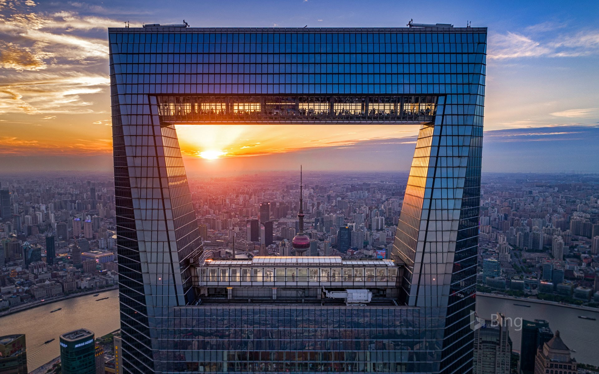 The Shanghai World Financial Center in China