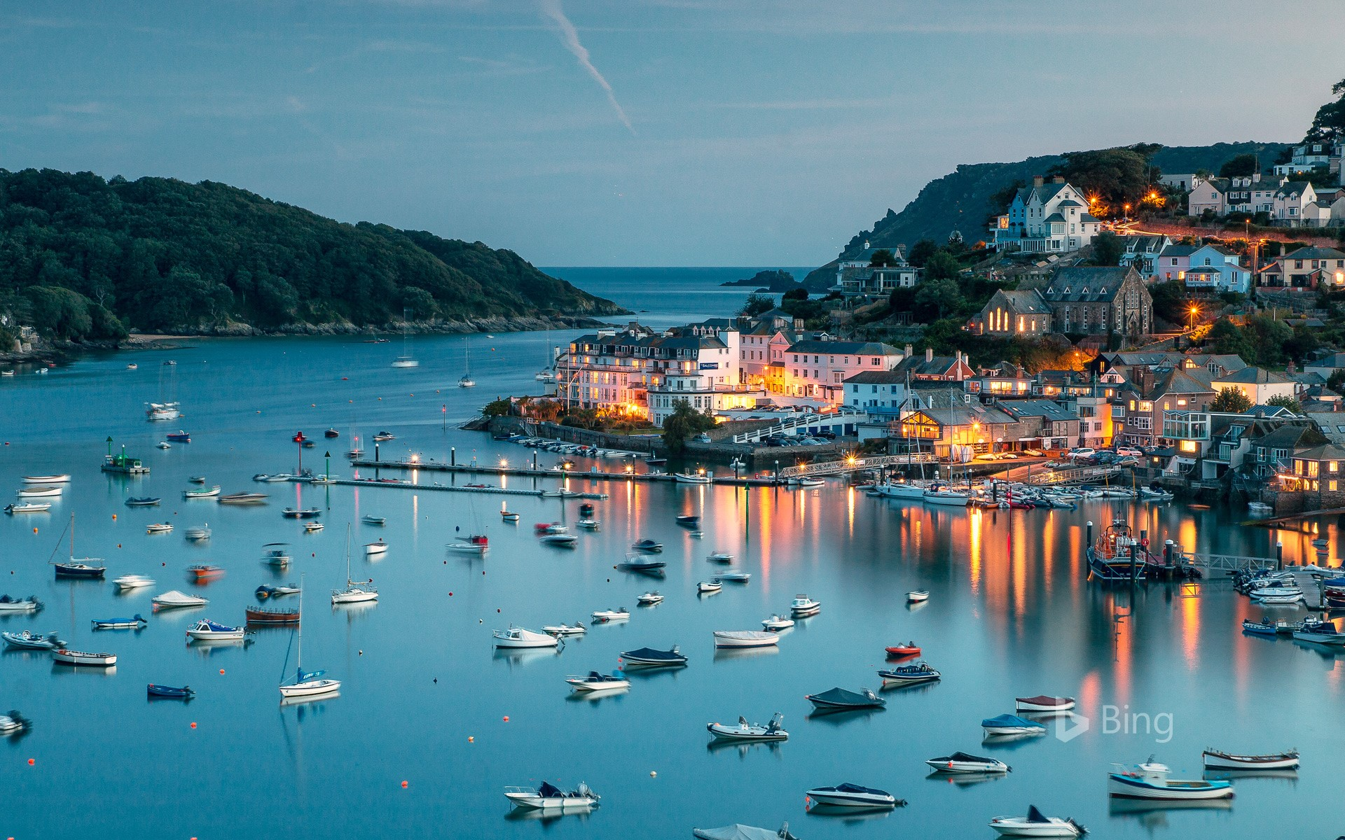 Salcombe Harbour on the south coast of Devon, England