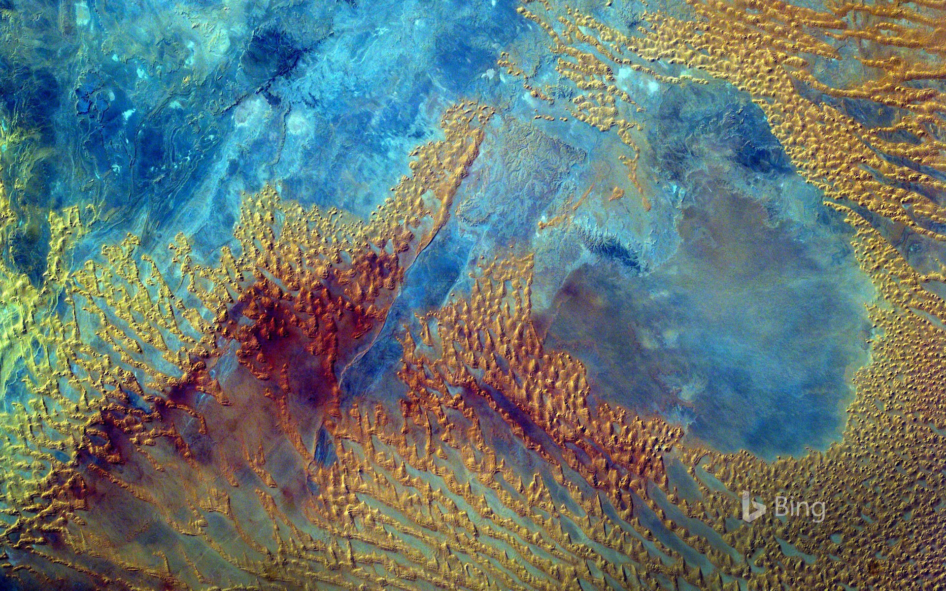 Sahara Desert photographed from the International Space Station by the Sally Ride EarthKAM