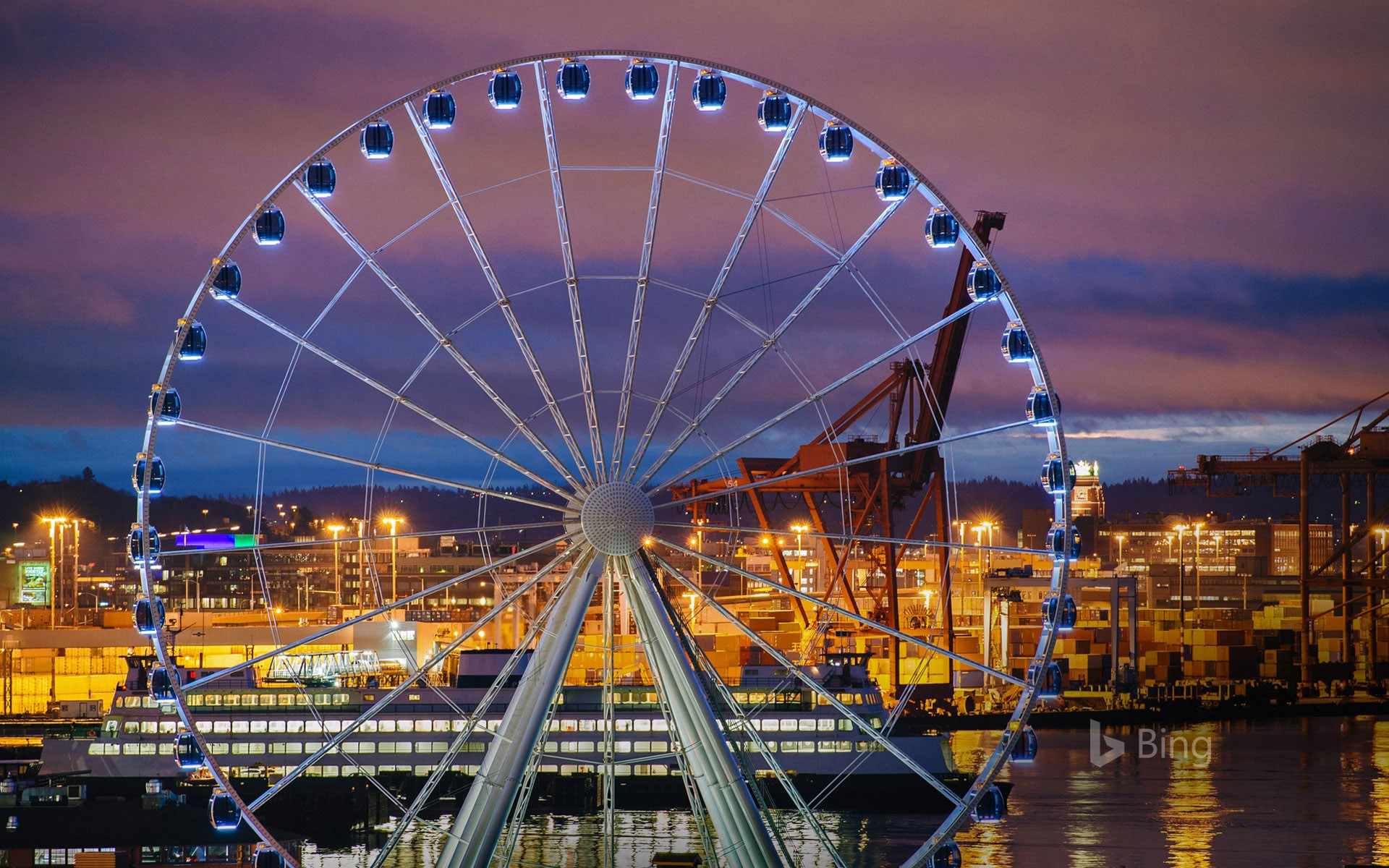 The Seattle Great Wheel in Seattle, Washington