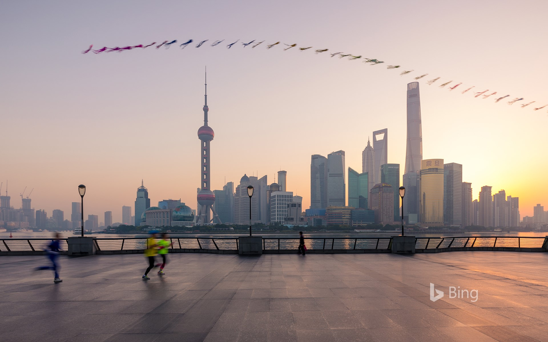 [Autumn Equinox Today] A kite in the morning in the morning, Shanghai, China