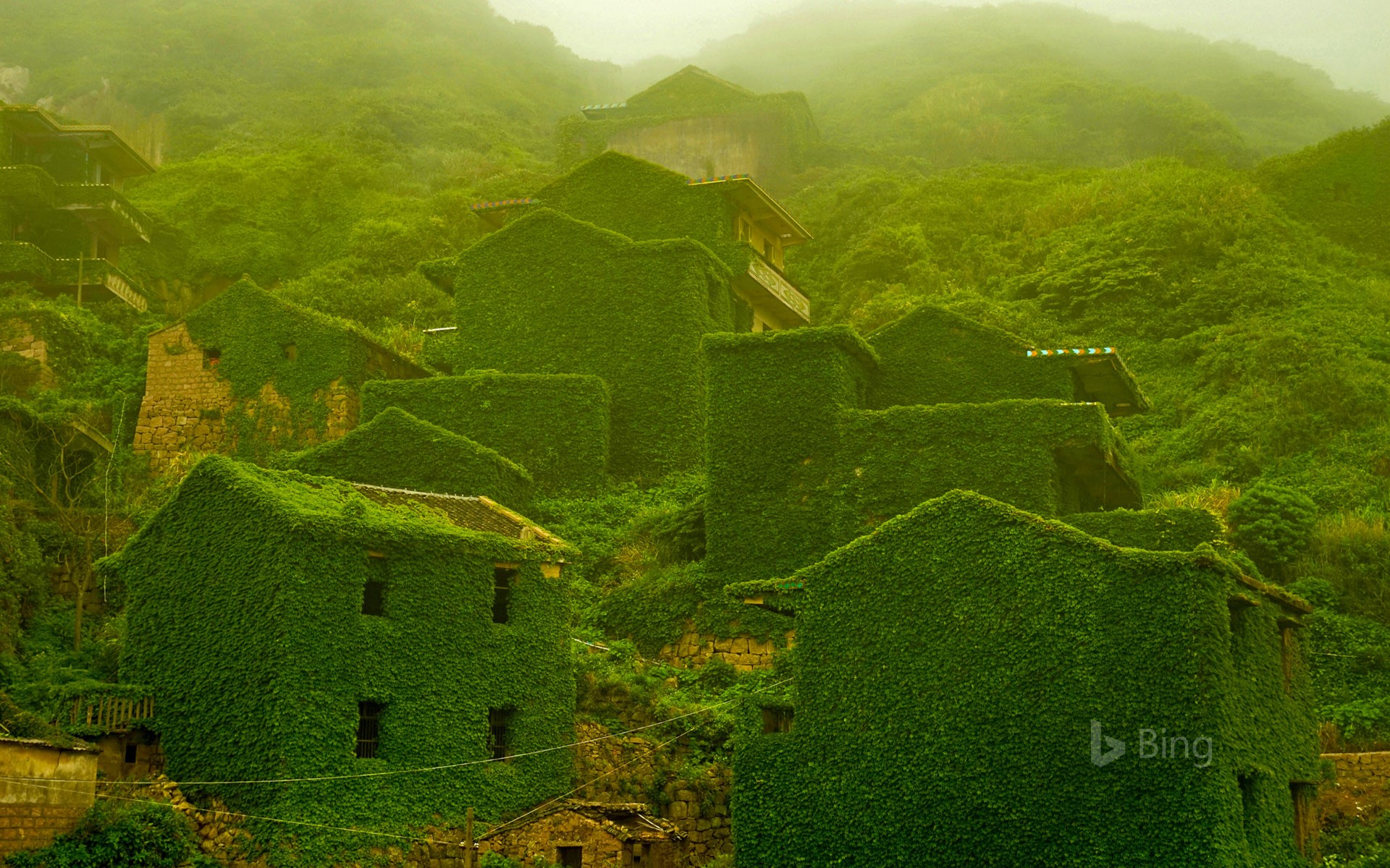 The abandoned village of Houtouwan on Shengshan Island, China