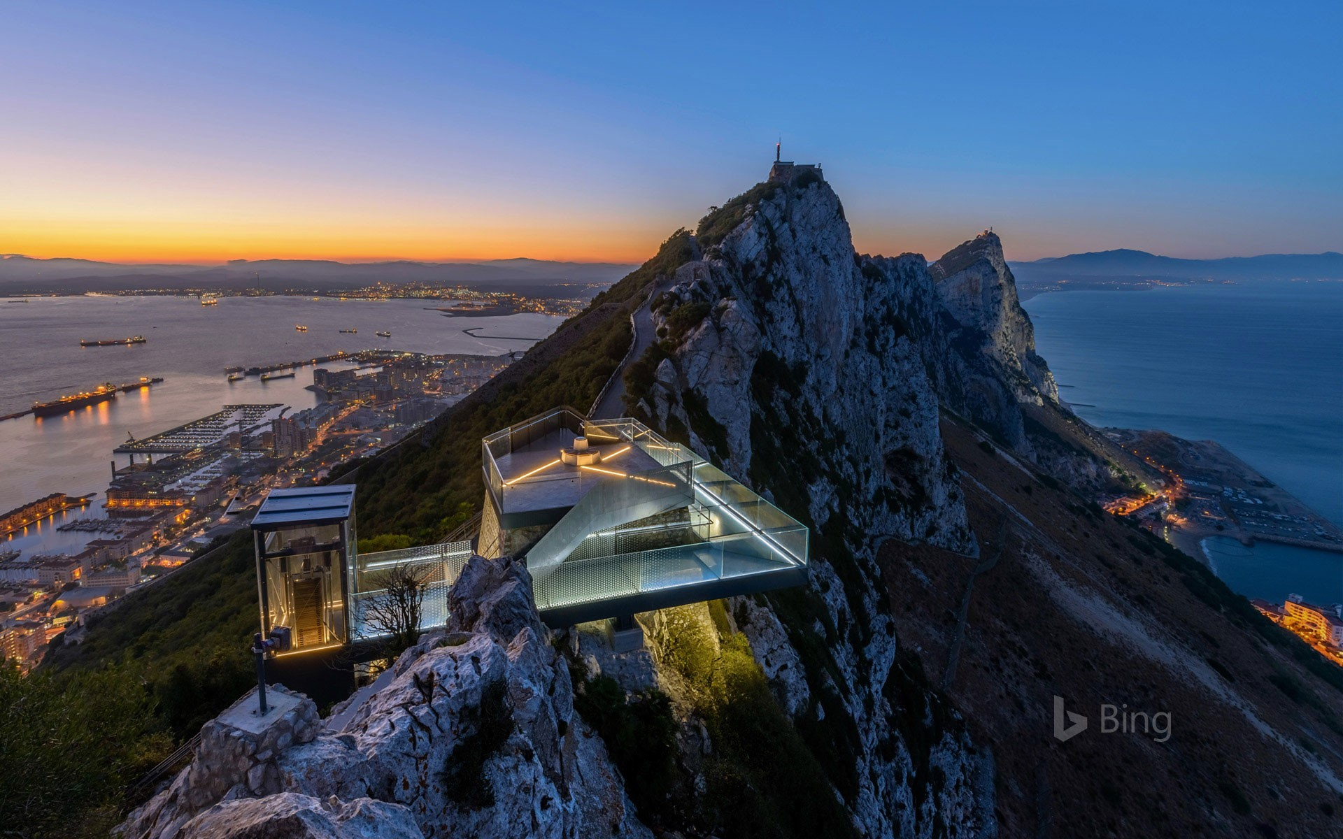 The Skywalk on the Rock of Gibraltar