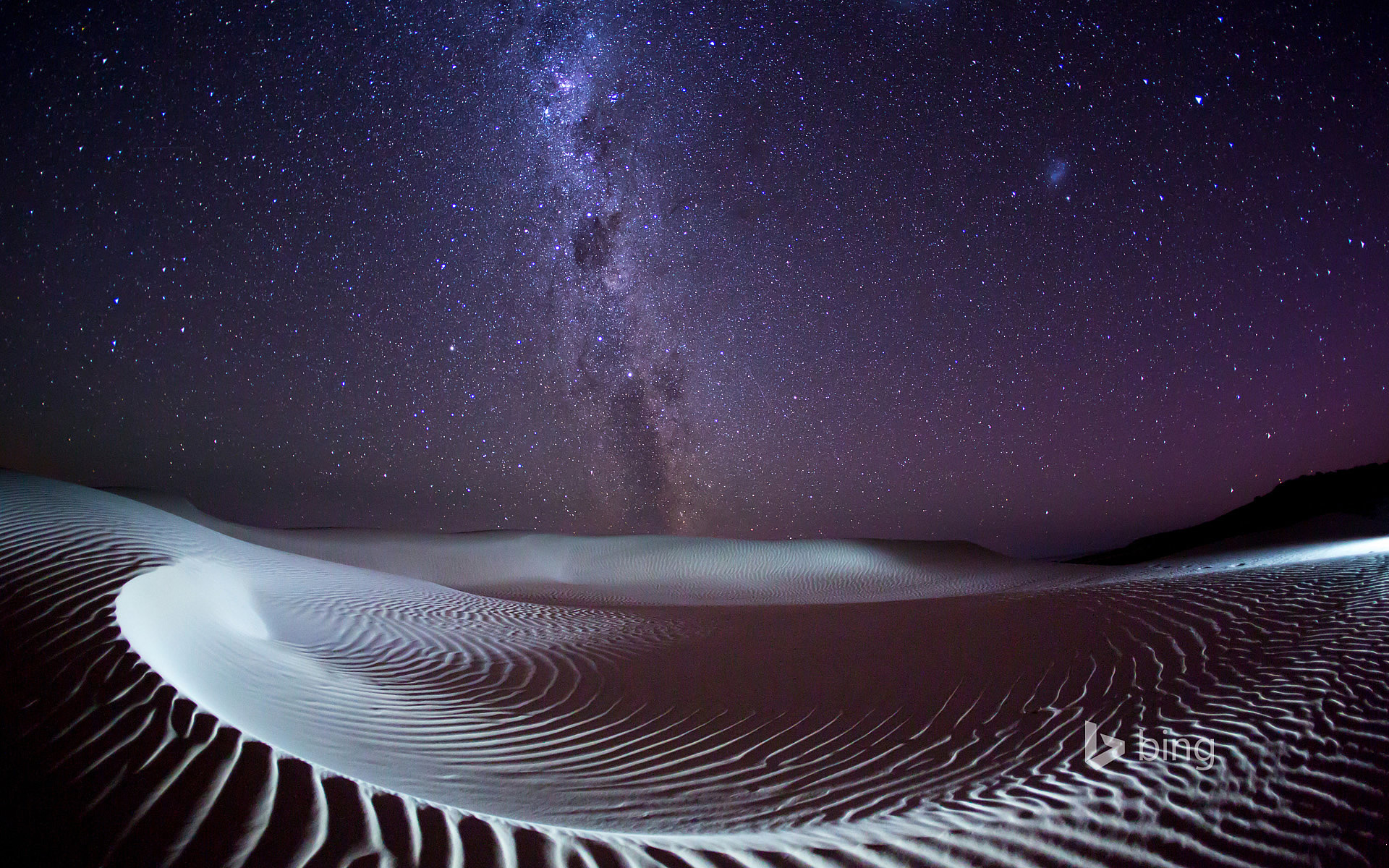 milky way over sleaford bay on the eyre peninsula south