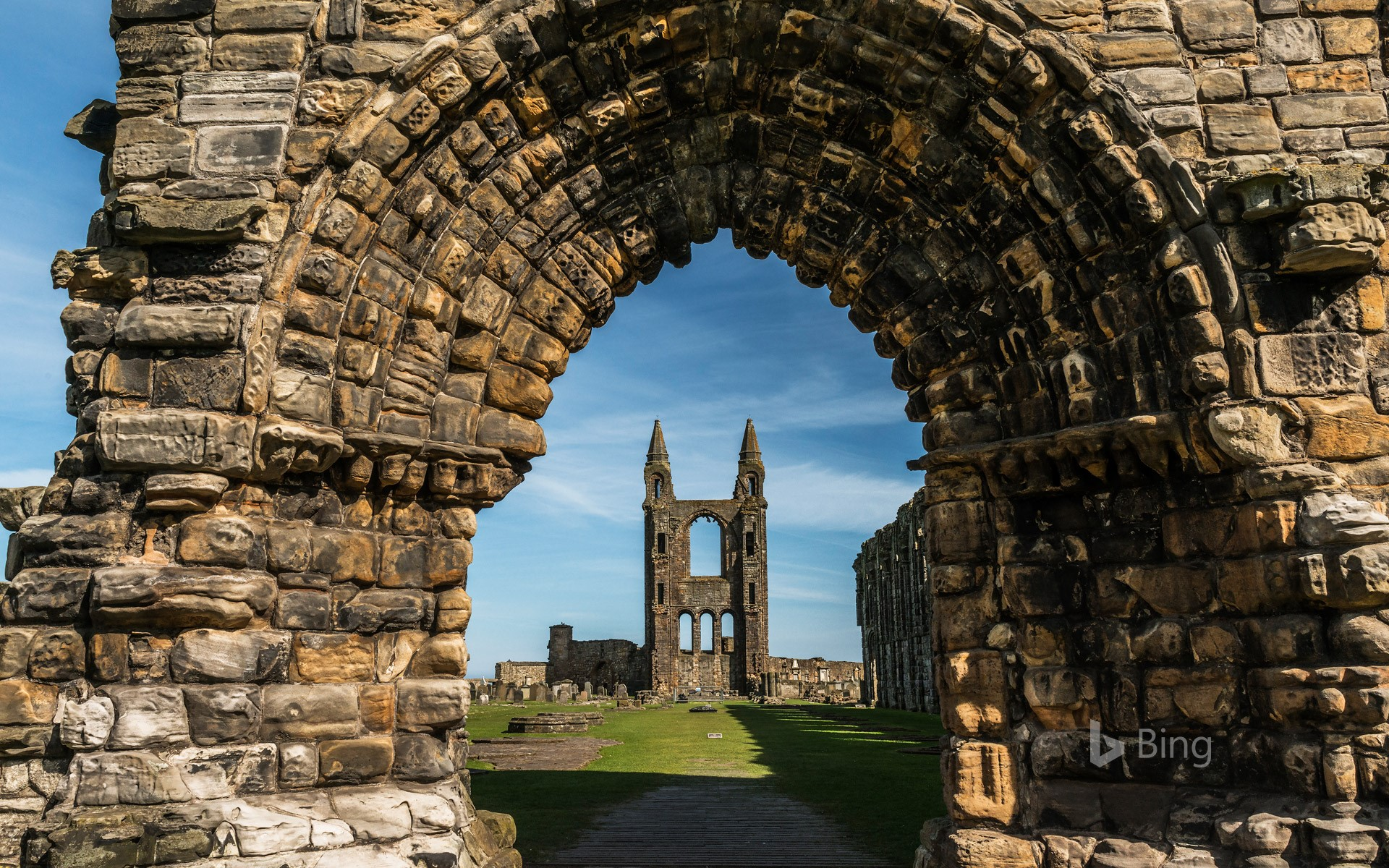 St Andrews Cathedral in Fife, Scotland