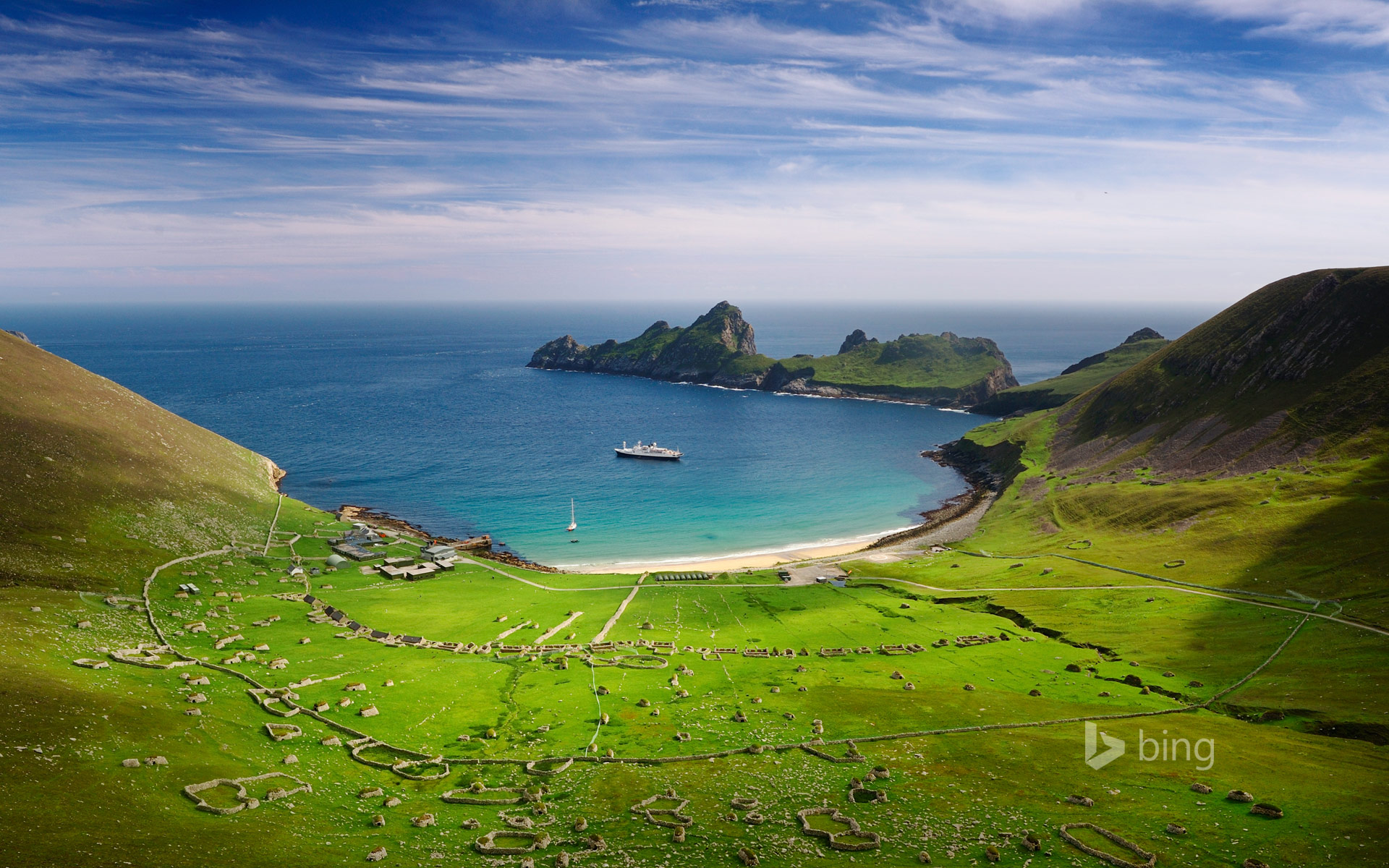 Village Bay on the island of Hirta, Scotland