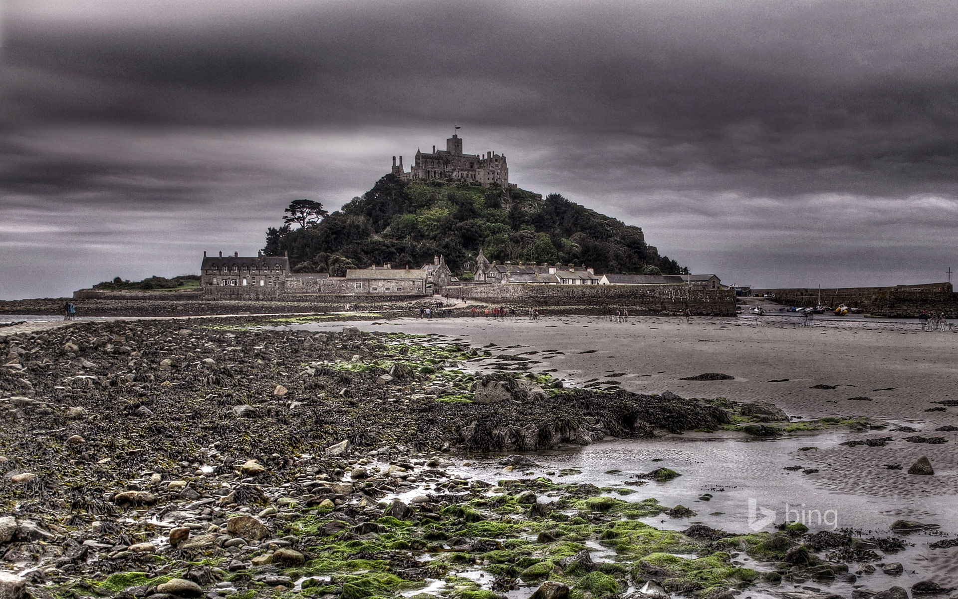 St Michael's Mount, off the coast of Marazion, Cornwall, England