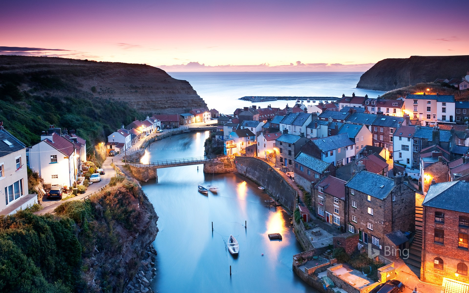 Village of Staithes in North Yorkshire, England