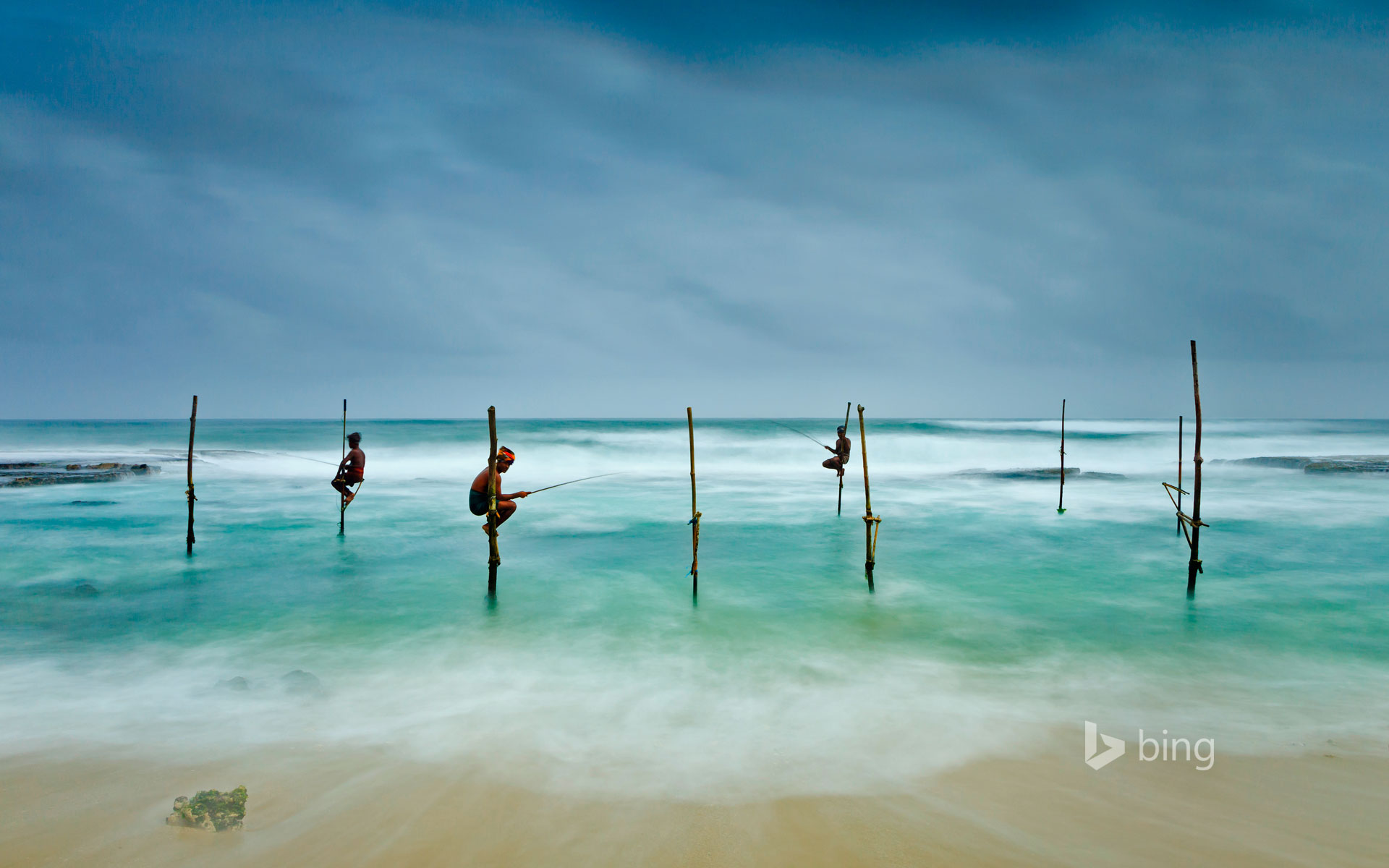 Stilt fishing in Koggala, Sri Lanka