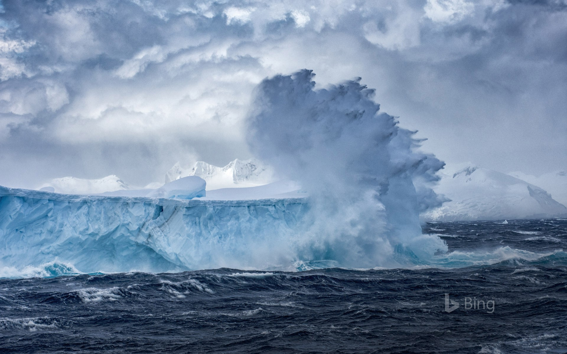 Iceberg floating off the coast of Antarctica