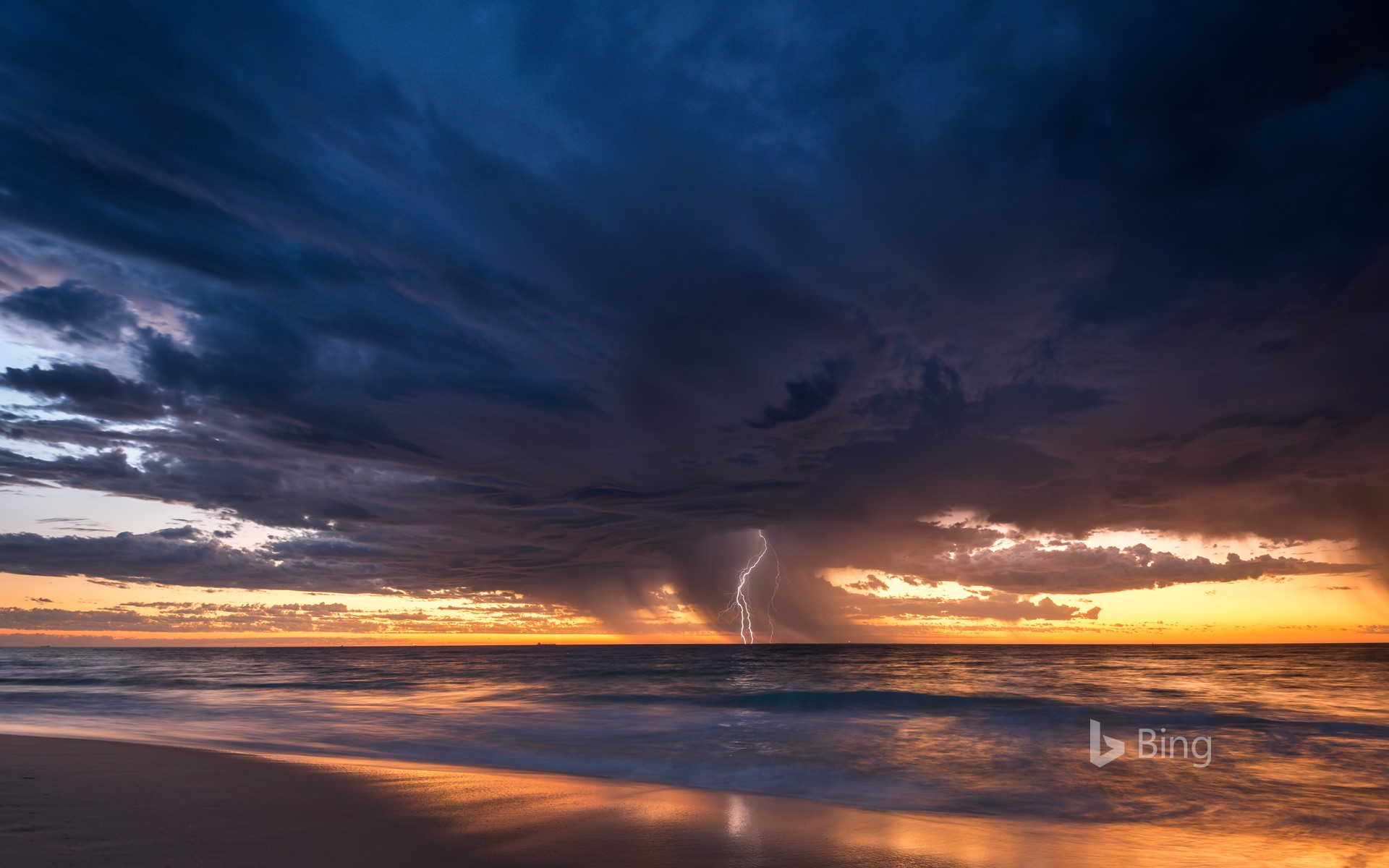 Summer storm from City Beach, Perth