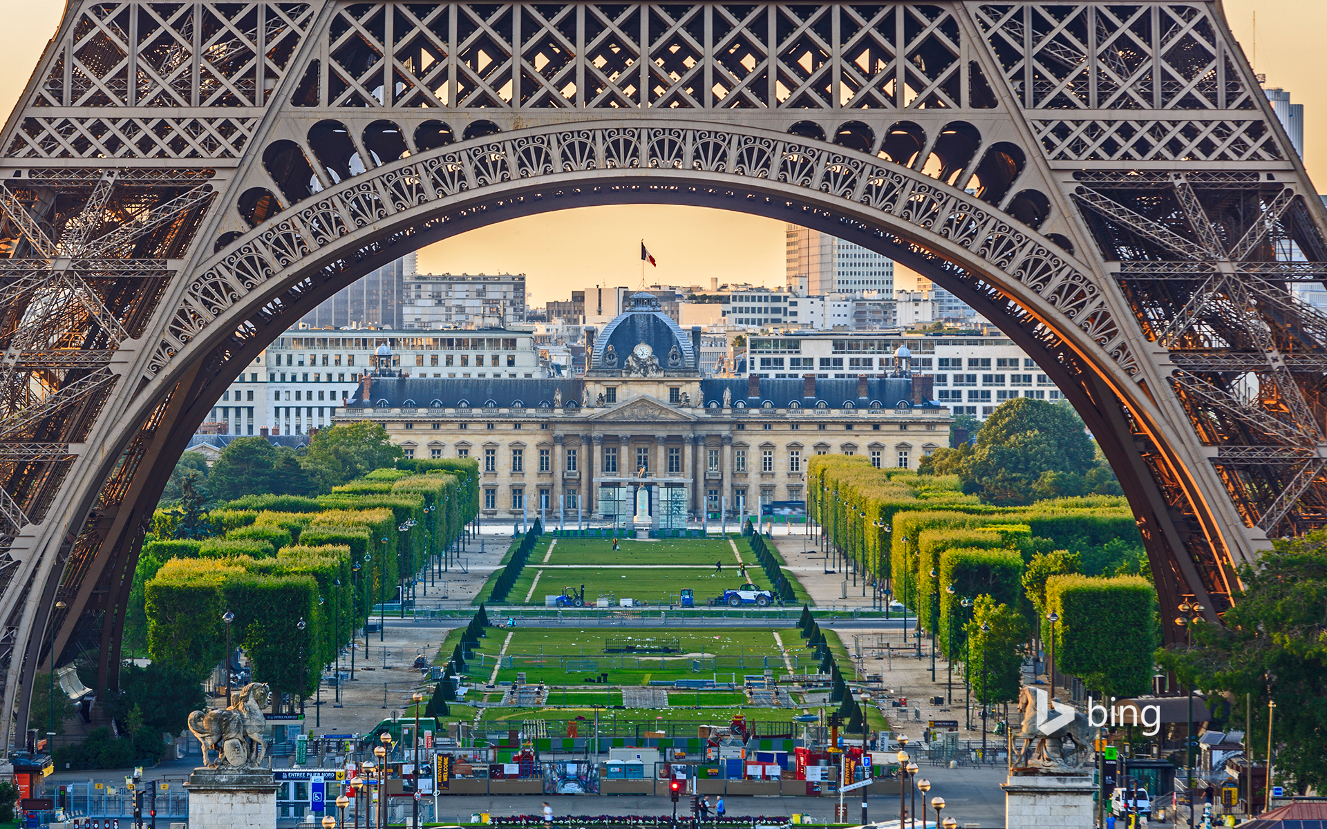 View of the Eiffel Tower from the Trocadero, Paris, France