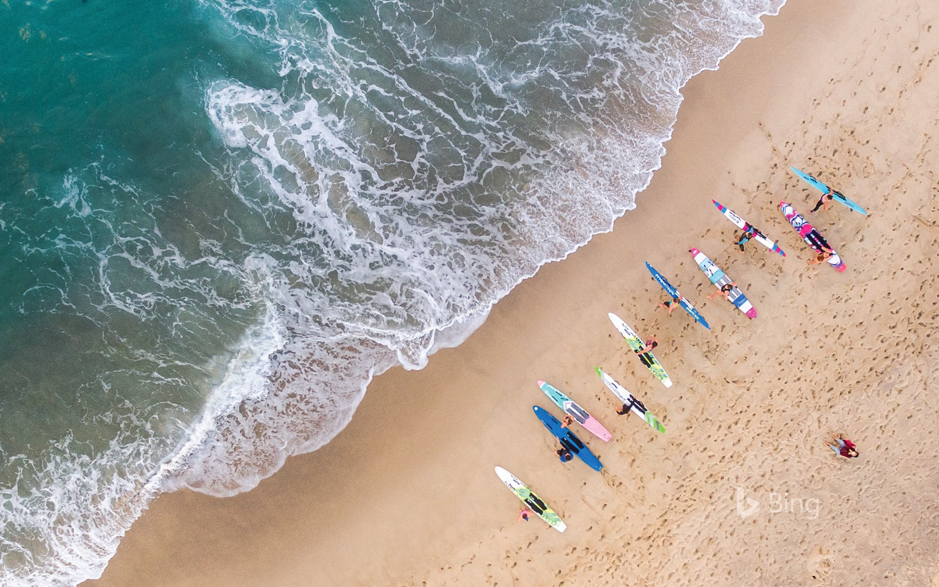 Surfers at Bronte Beach, near Sydney, Australia