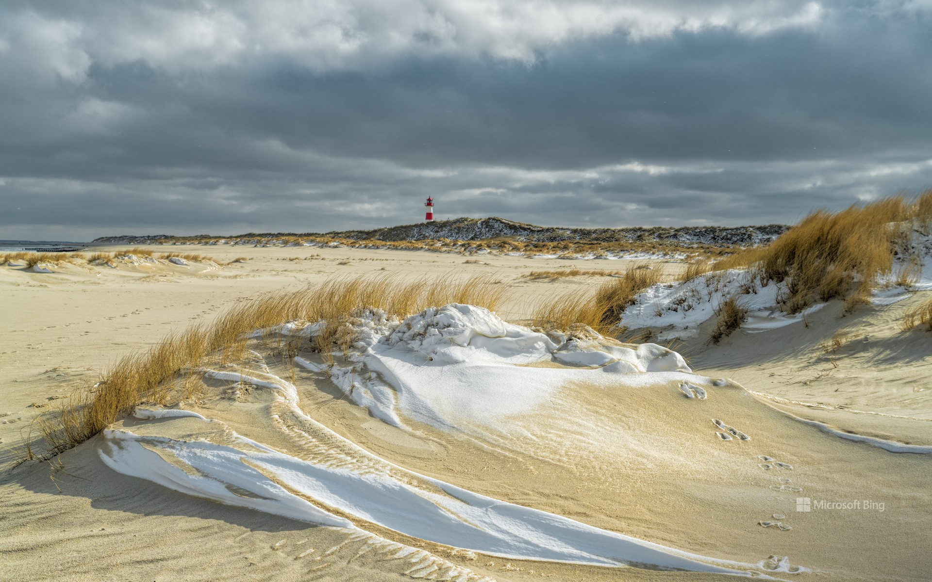 Beach on the island of Sylt, Schleswig-Holstein, in winter