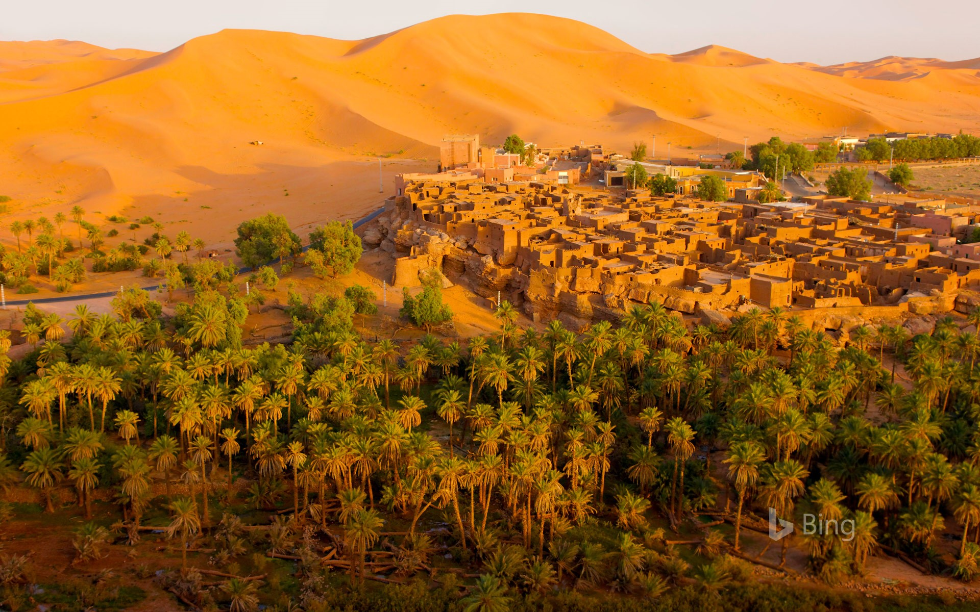 Oasis town of Taghit, Algeria