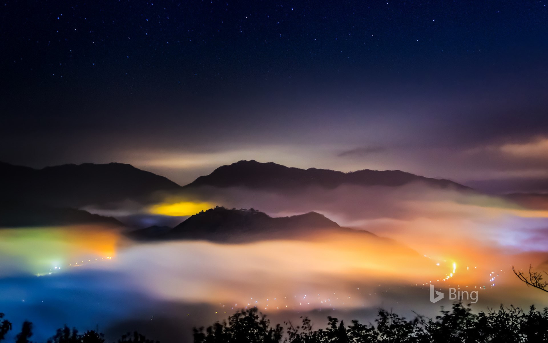 """""""Takeda Castle Ruins in the Sea of Clouds"""" Hyogo, Asago"""
