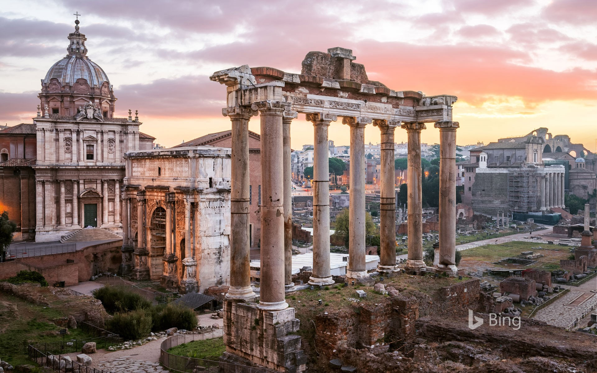 Temple of Saturn in the Roman Forum, Italy