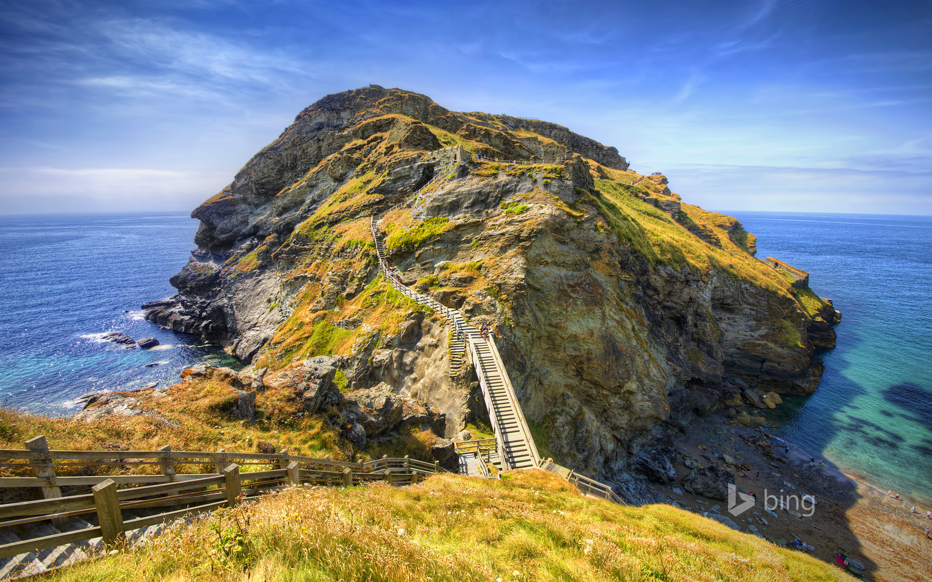 Tintagel on the Atlantic coast of Cornwall