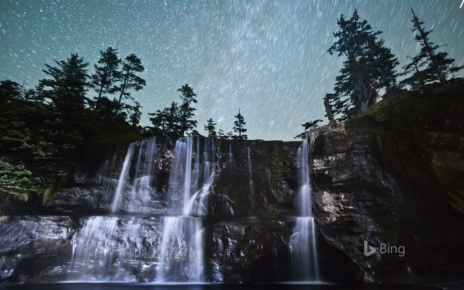 Tsusiat Falls along the West Coast Trail in B.C., Canada