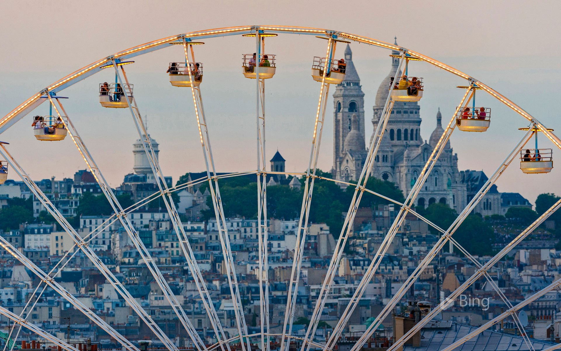 Ferris wheel in the Tuileries Garden in Paris, France