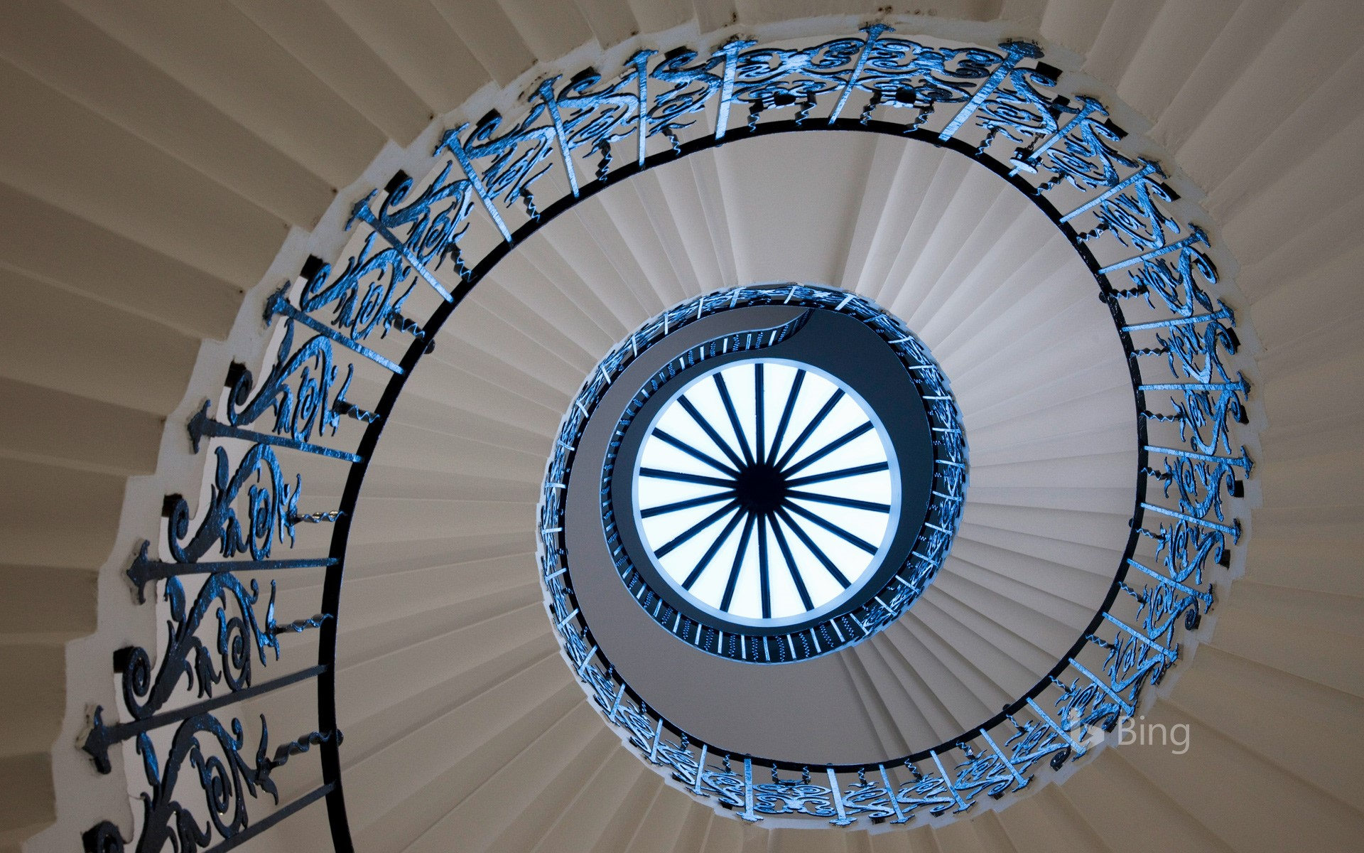 The Tulip Stairs at Queen's House in Greenwich, London