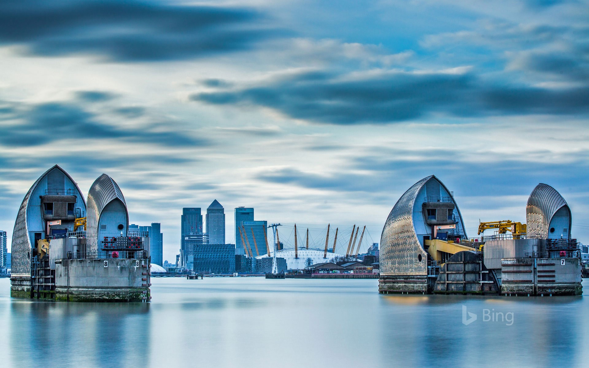 The Thames Barrier in London
