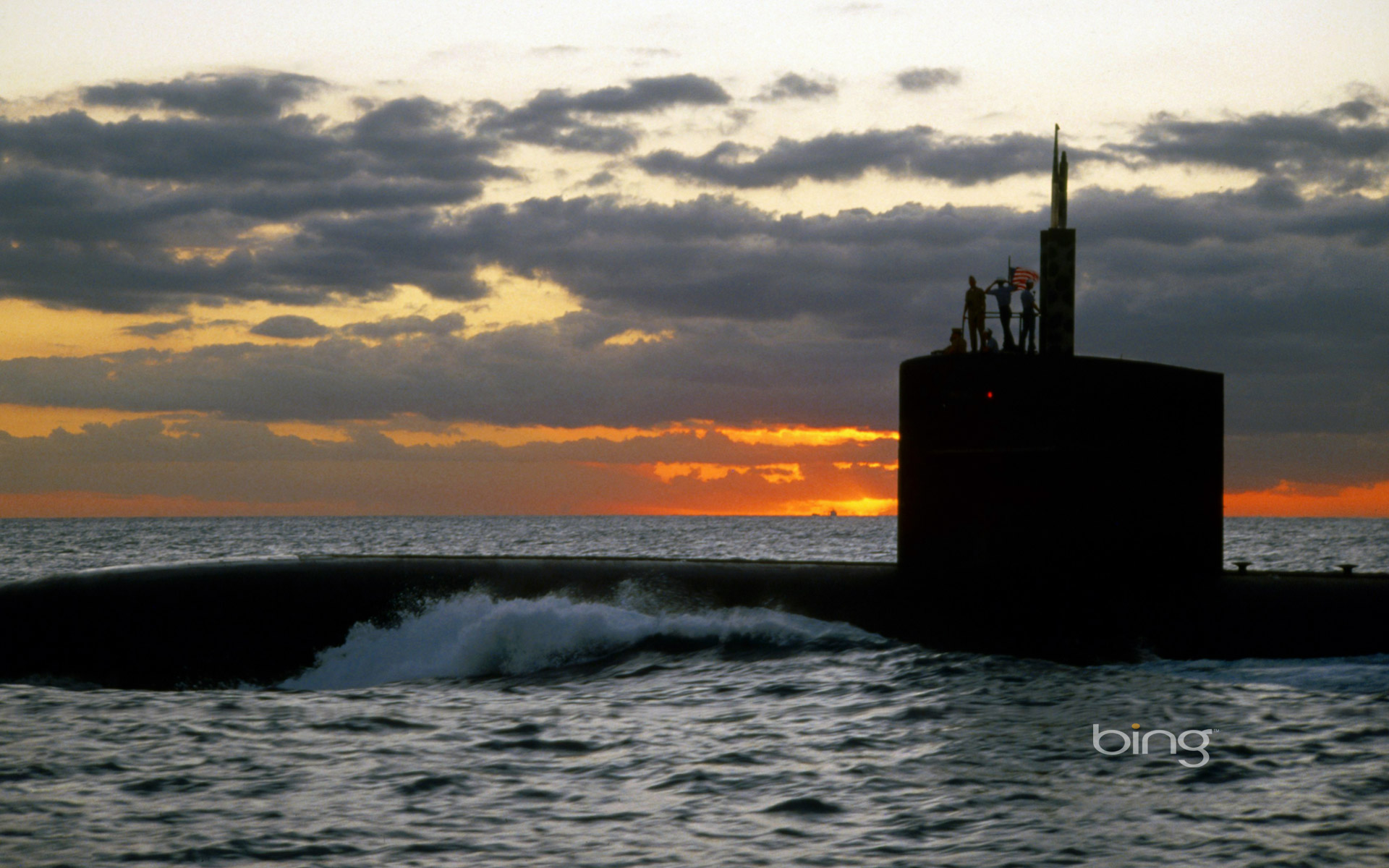 The USS San Francisco (SSN-711) at sea