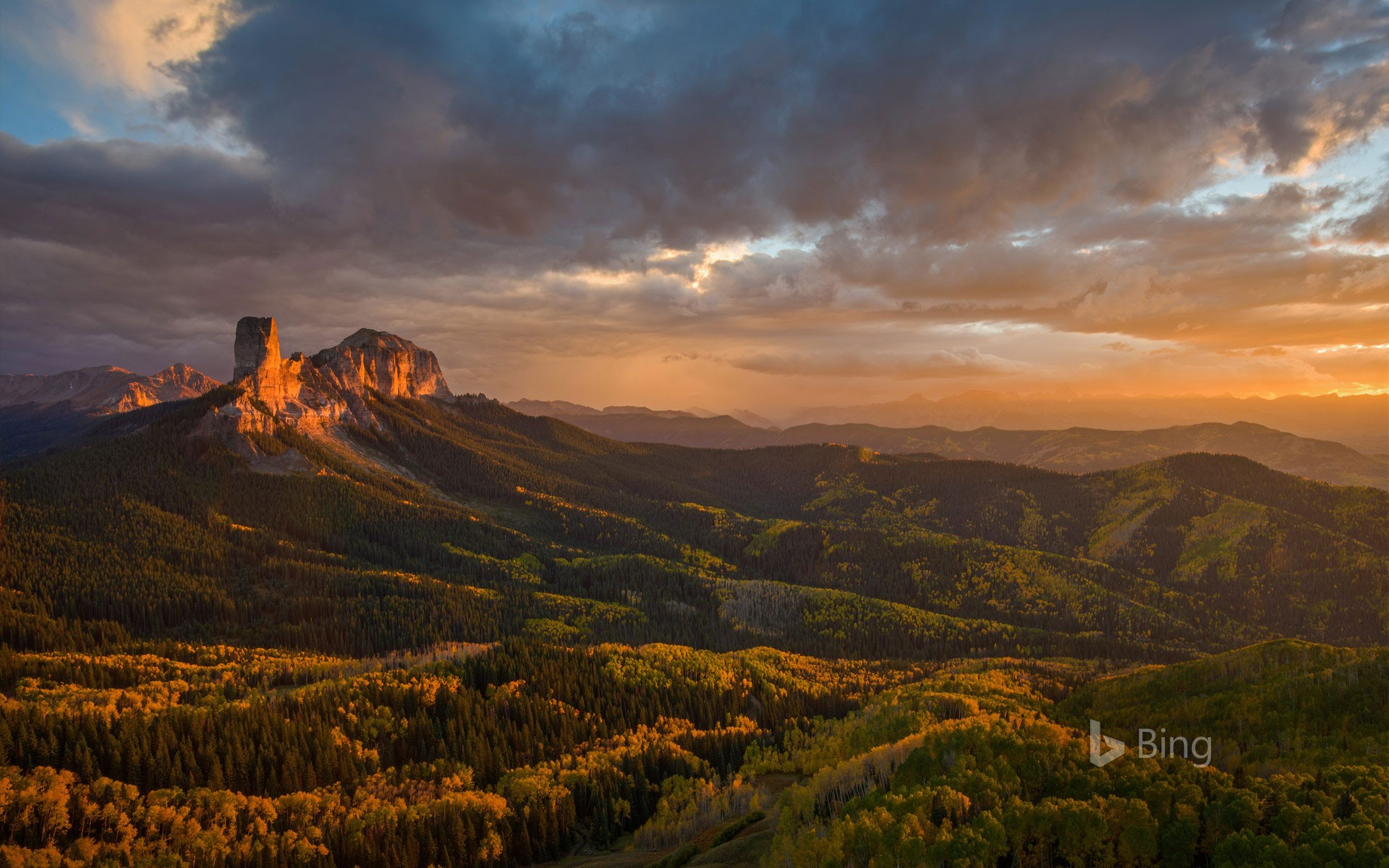 Chimney Rock and Uncompahgre National Forest, Colorado