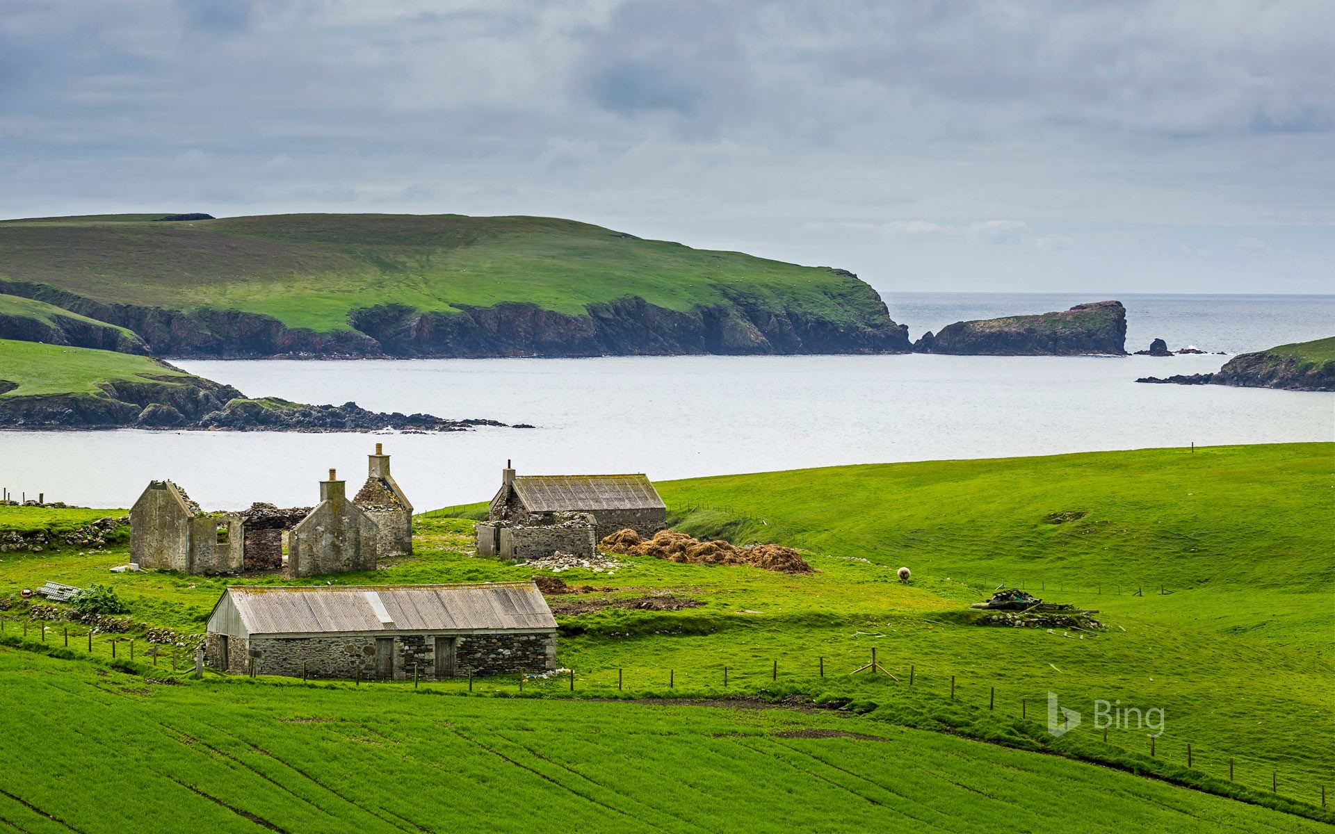 An old farm in the Shetland Islands, Scotland