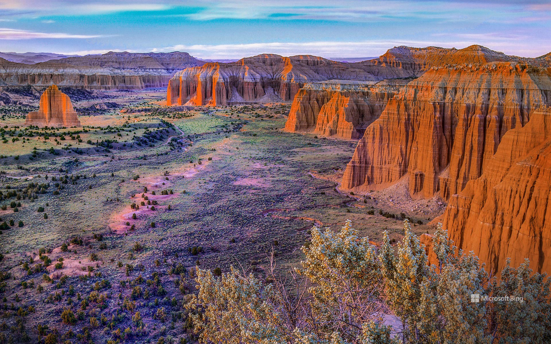 Upper Cathedral Valley, Capitol Reef National Park, Utah, USA