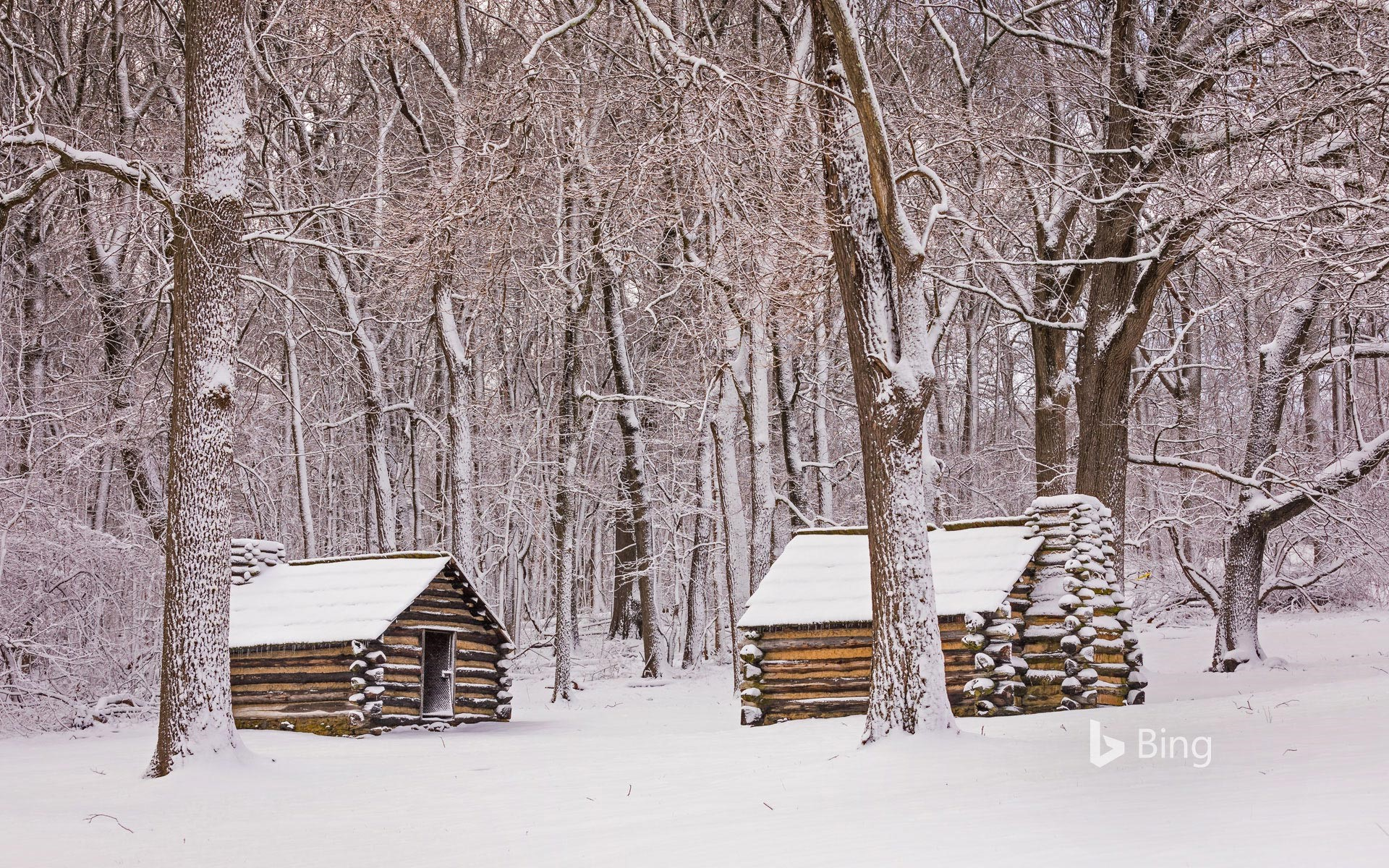 Cabins in Valley Forge National Historical Park, Pennsylvania