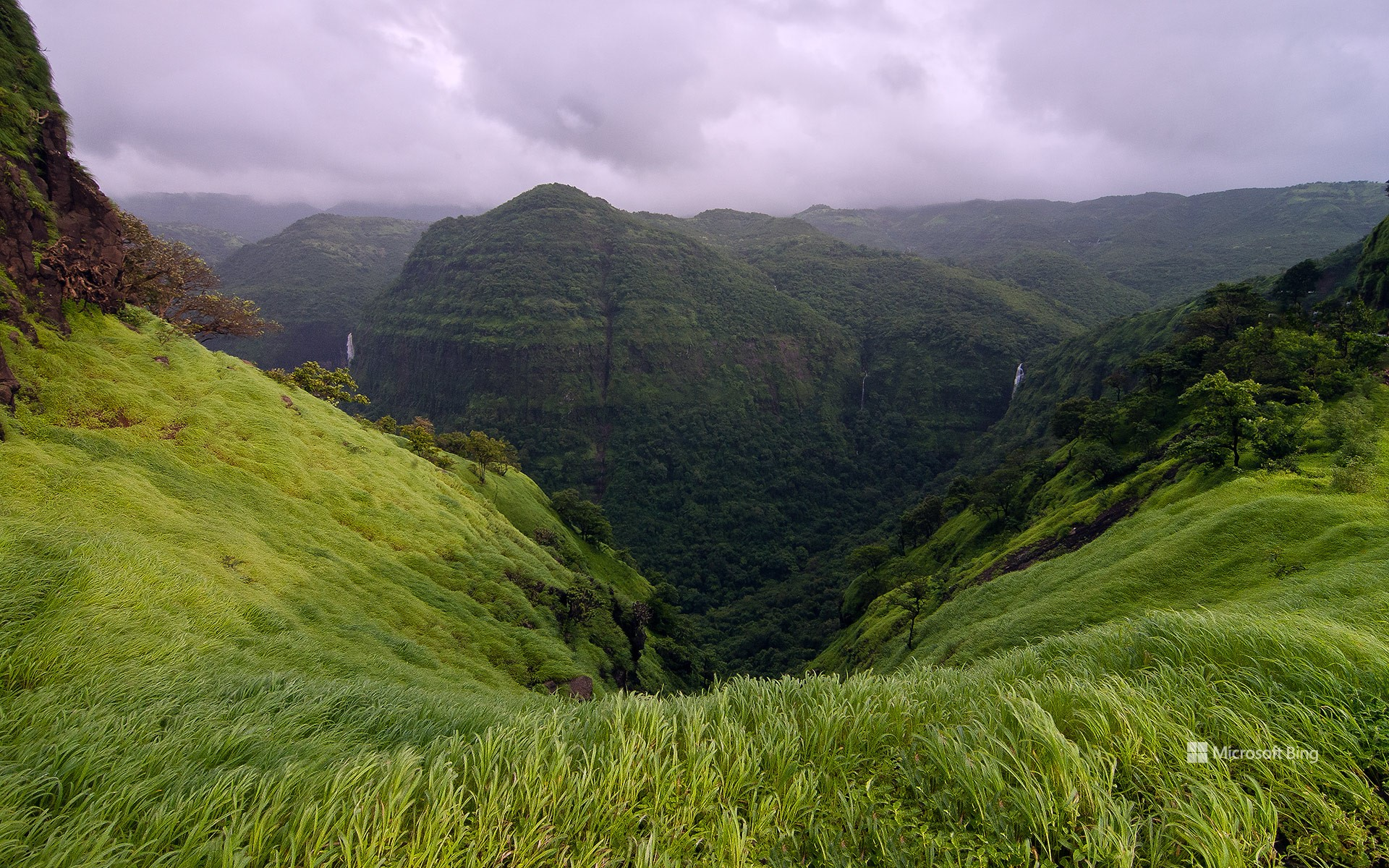 View from Varandha Ghat in the Western Ghats, Maharashtra, India