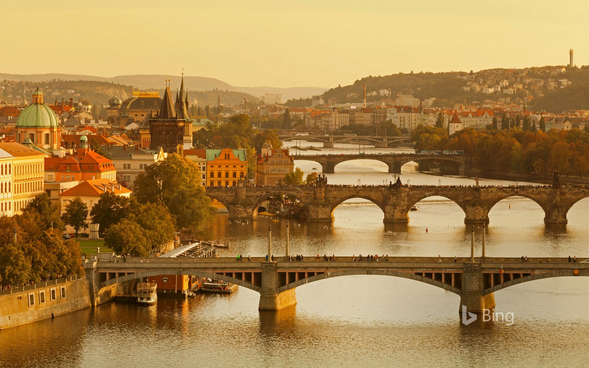 Bridges over the Vltava River, Prague, Czech Republic