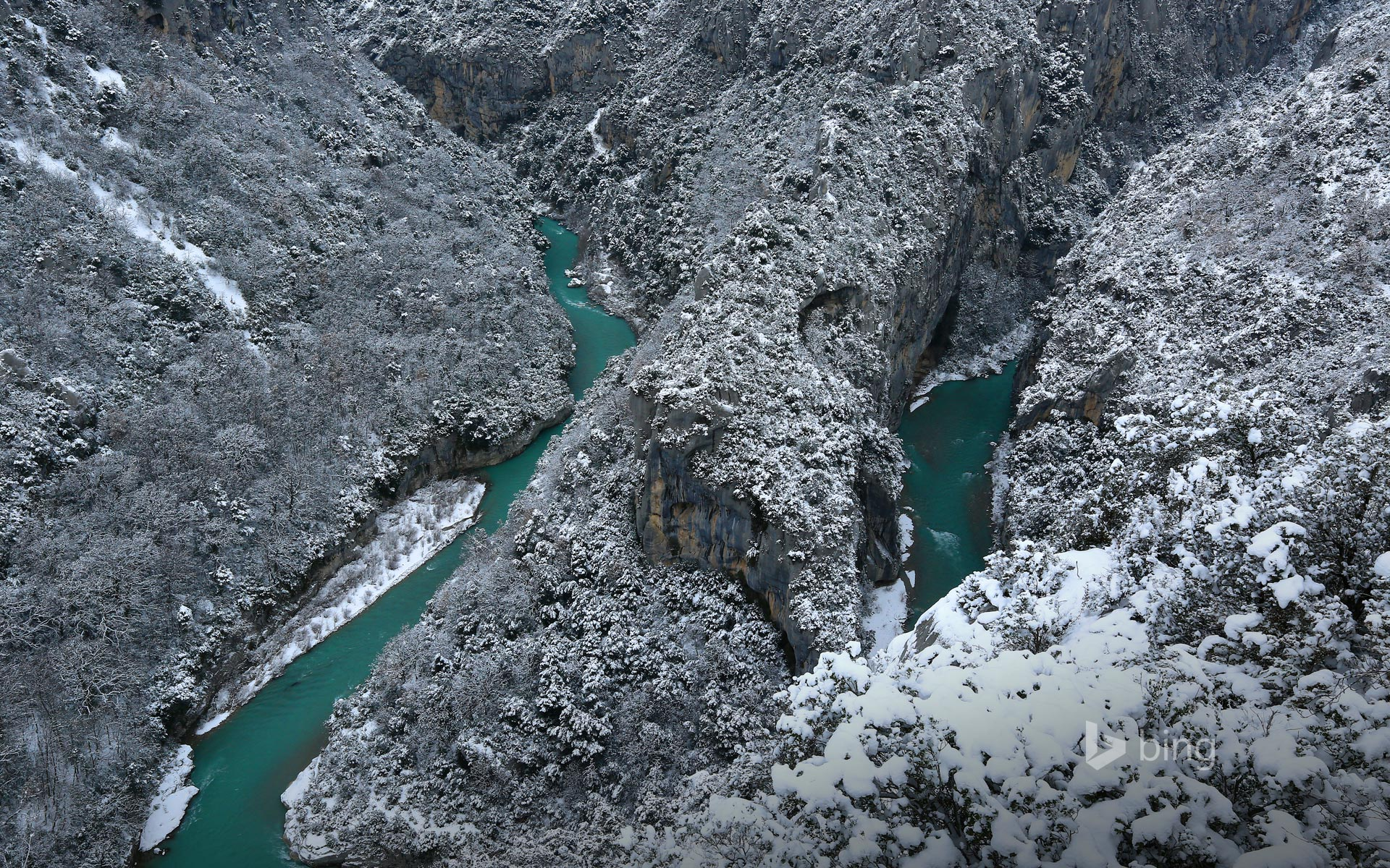 Verdon Natural Regional Park in winter, France