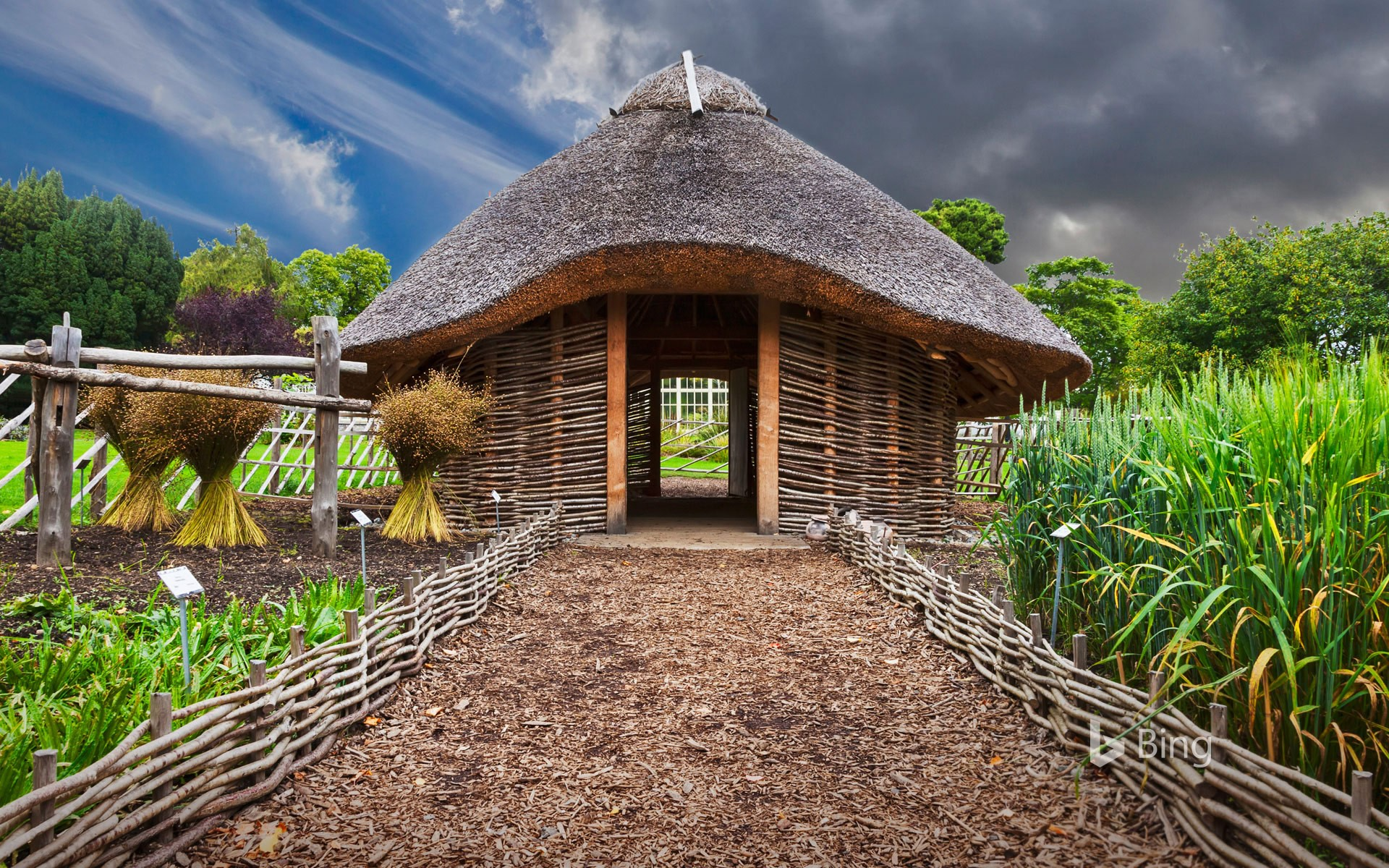 Replica of a Viking home in Dublin National Botanic Gardens, Ireland